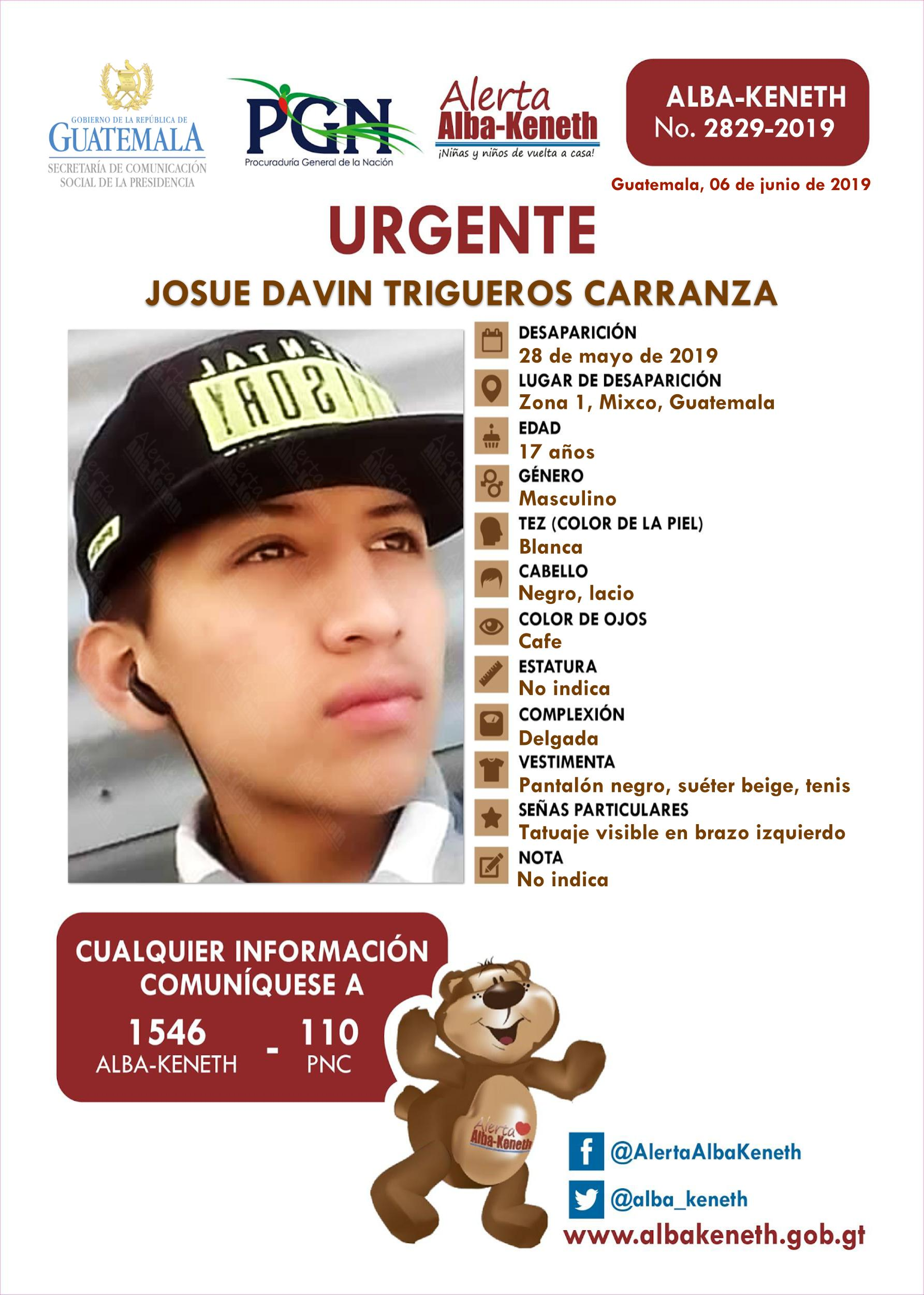 Josue Davin Trigueros Carranza