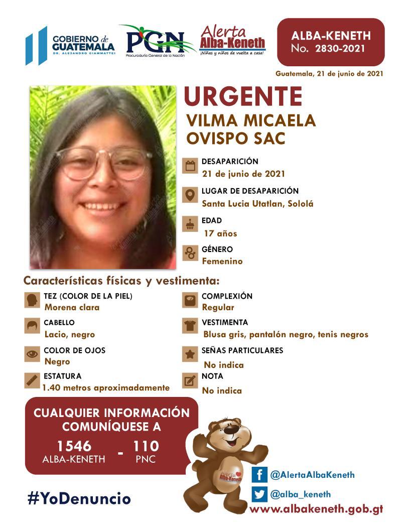 Vilma Micaela Ovispo Sac