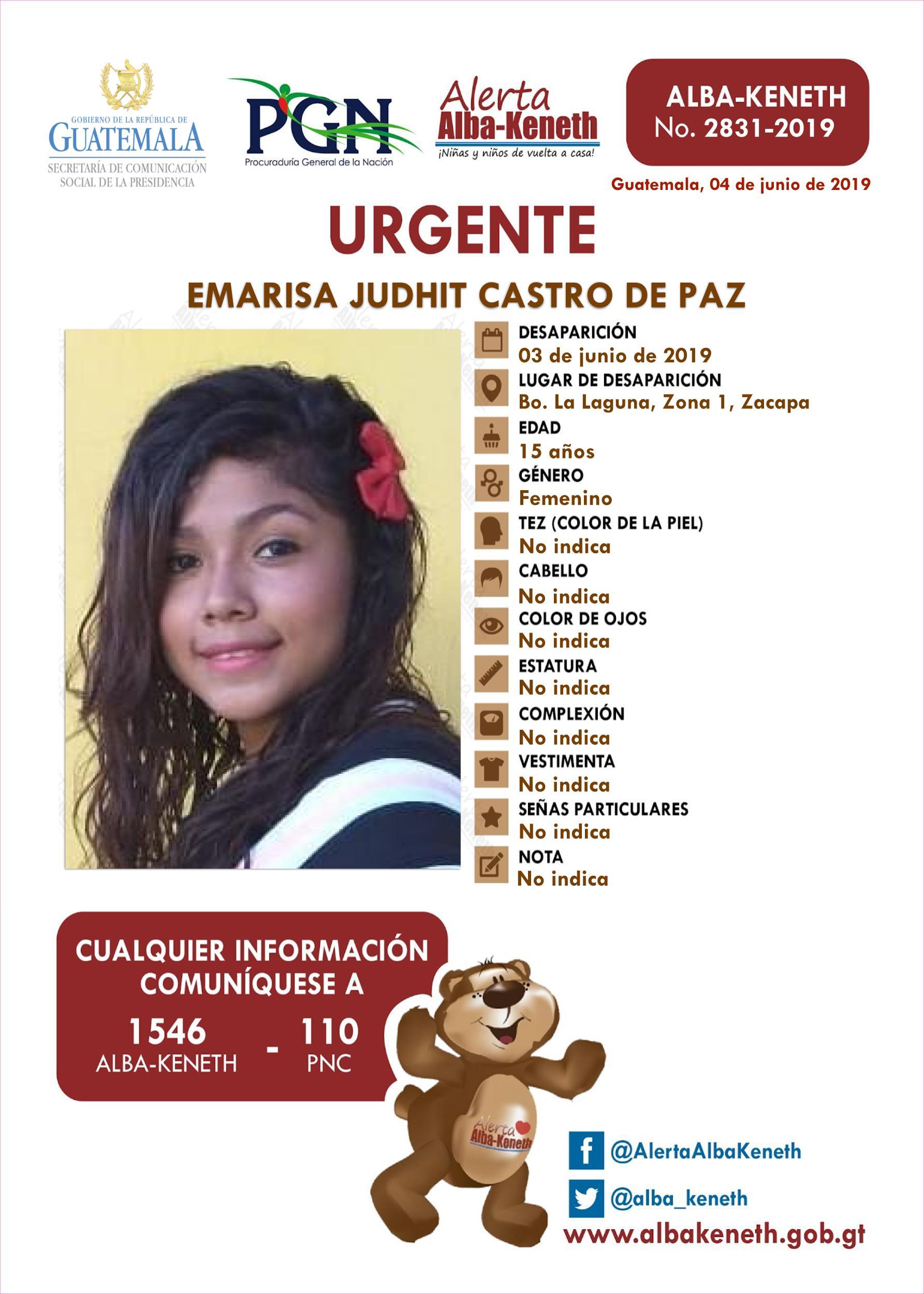 Emarisa Judith Castro de Paz