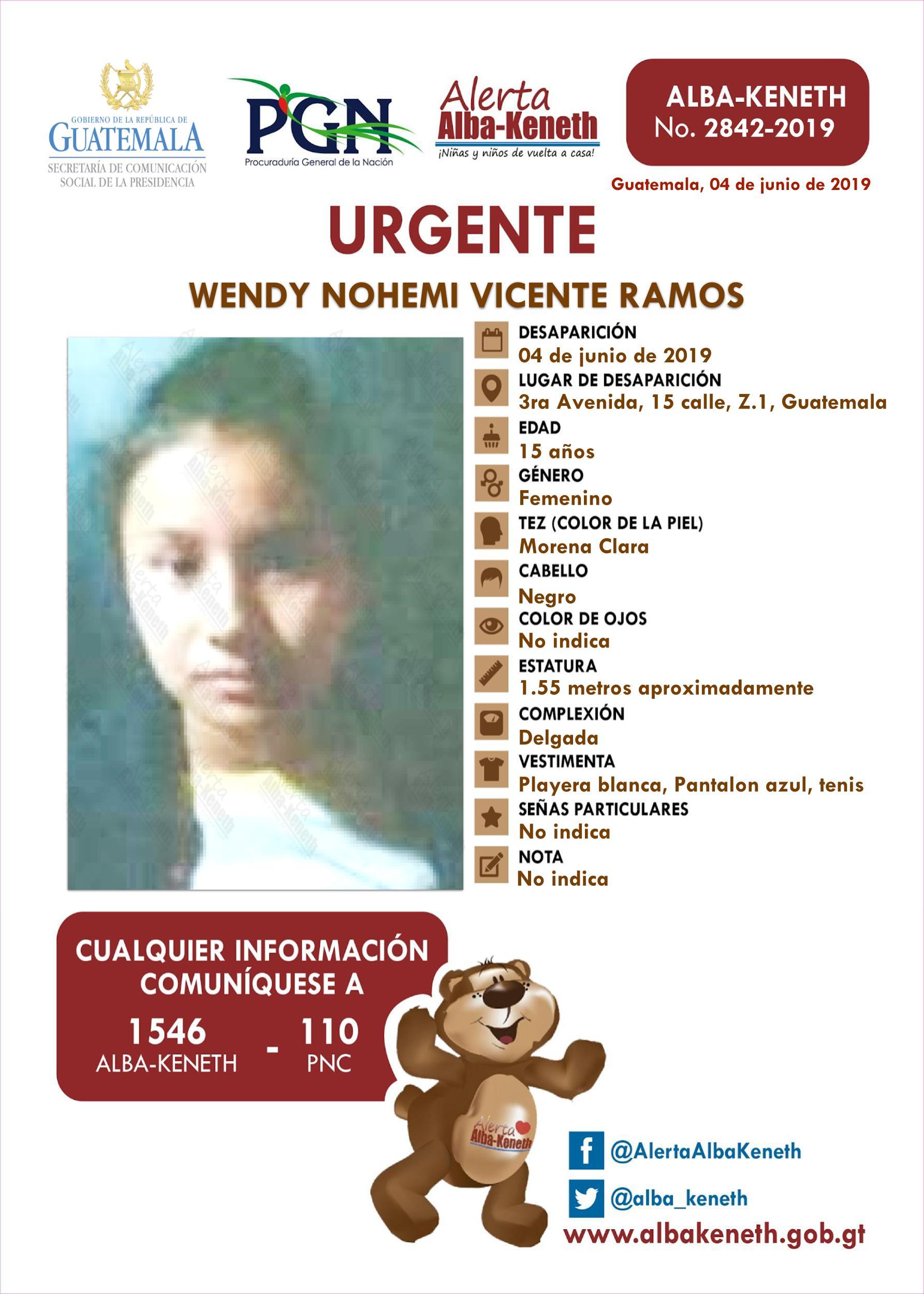 Wendy Nohemi Vicente Ramos