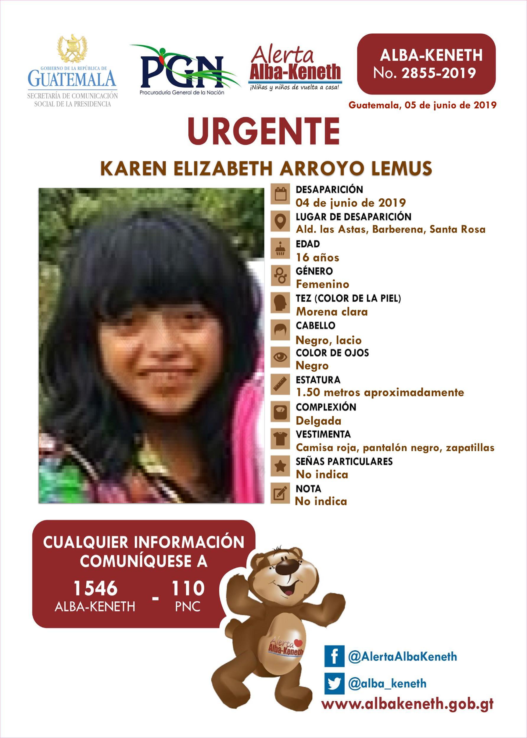 Karen Elizabeth Arroyo Lemus