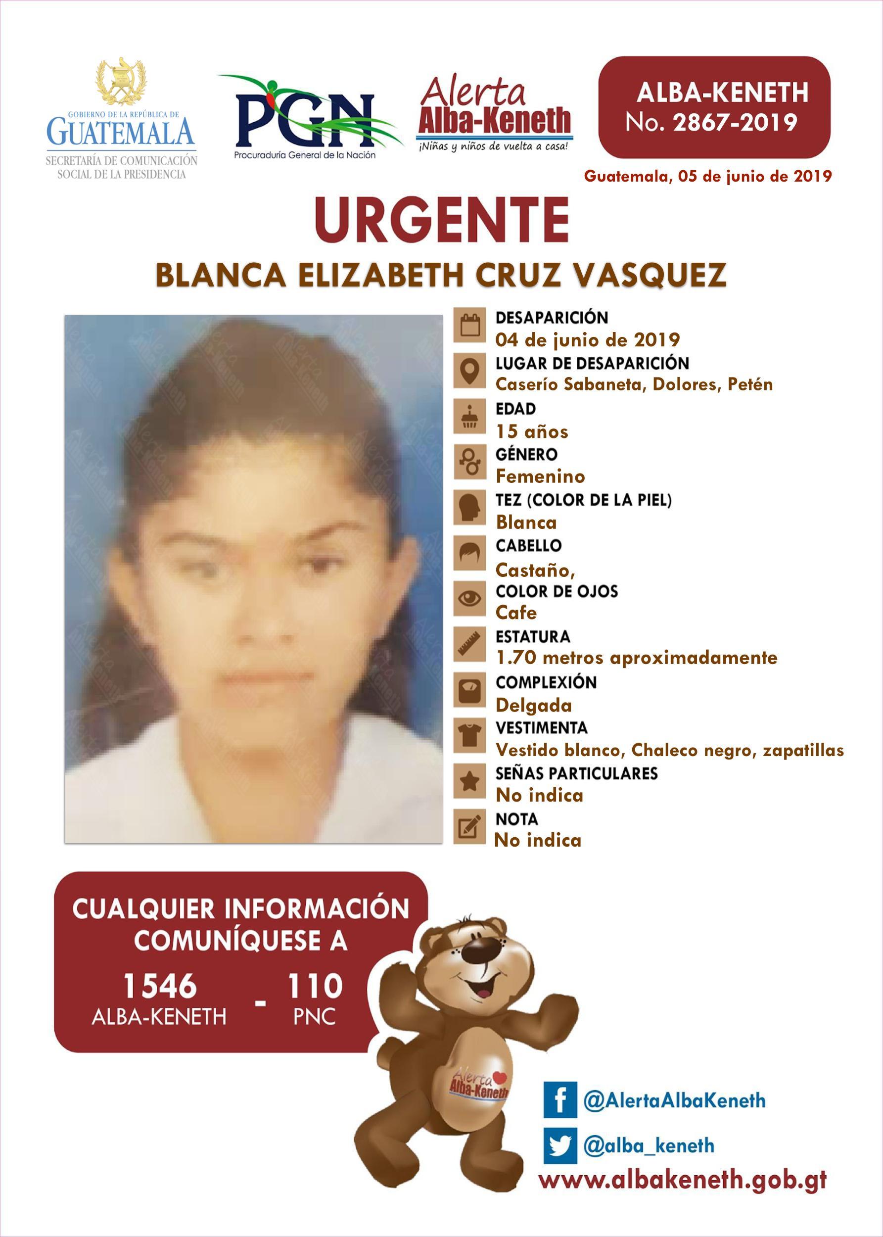 Blanca Elizabeth Cruz Vasquez