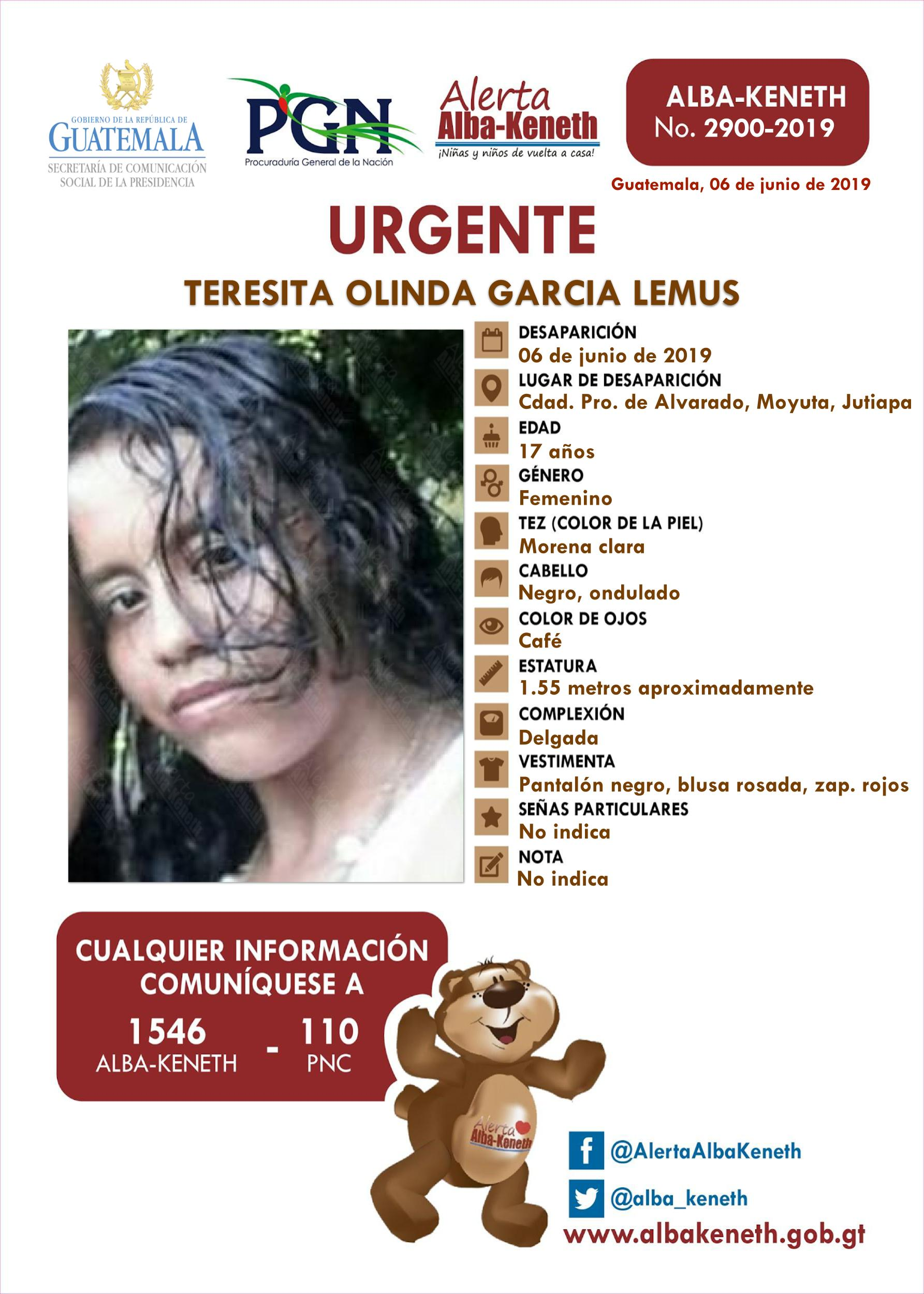 Teresita Olinda Garcia Lemus