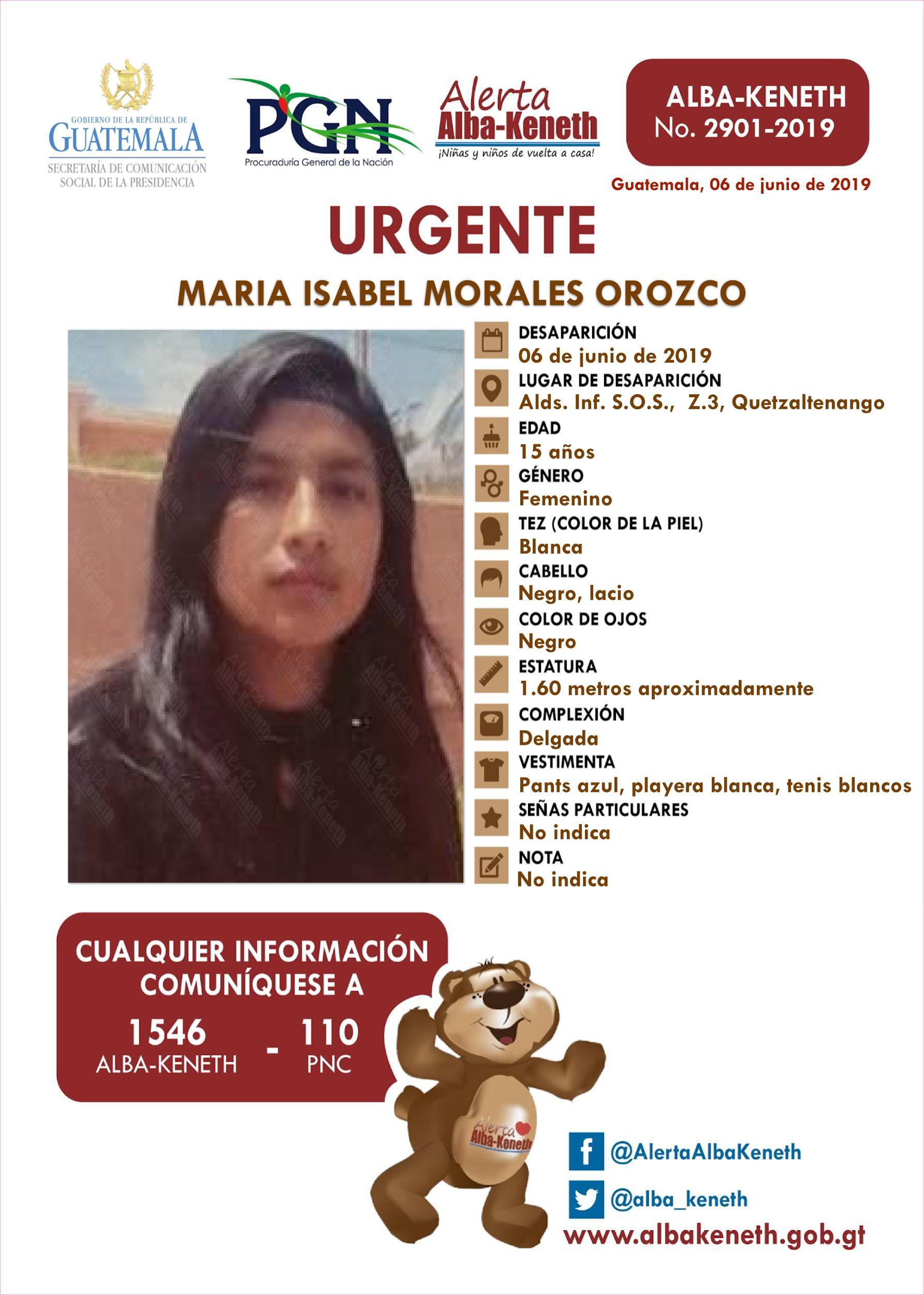 Maria Isabel Morales Orozco