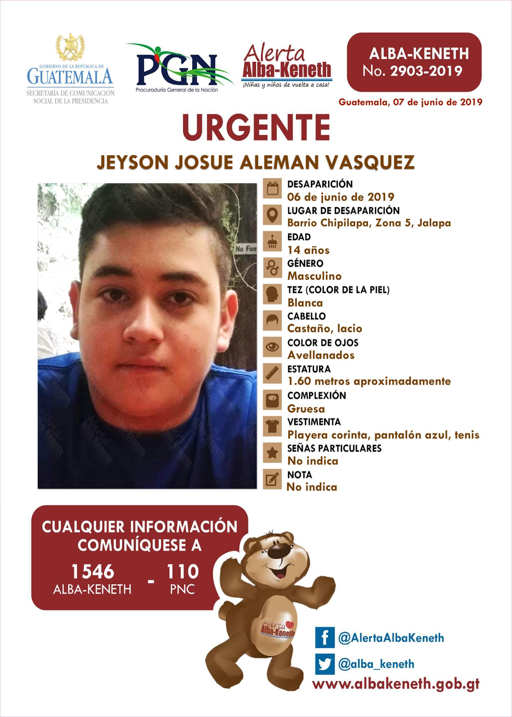 Jeyson Josue Aleman Vasquez