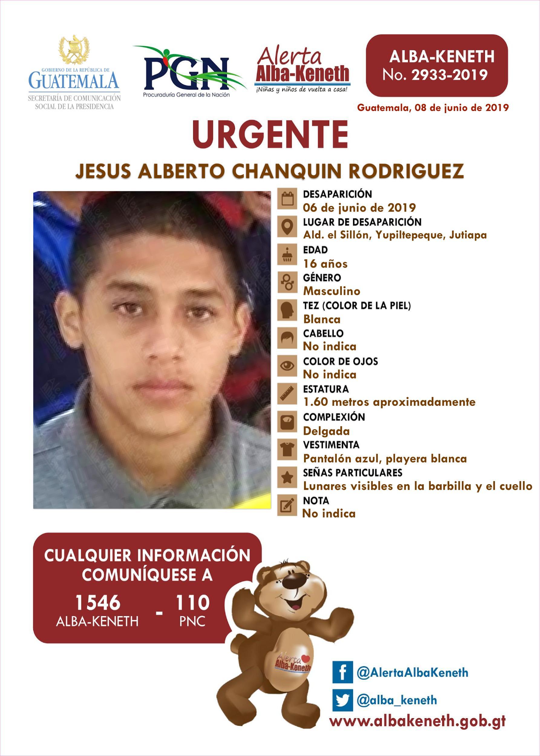 Jesus Alberto Chanquin Rodriguez