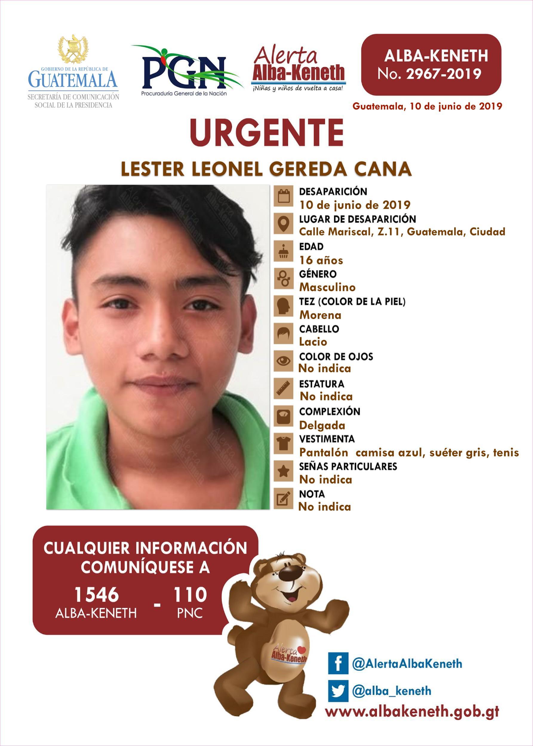 Lester Leonel Gereda Cana