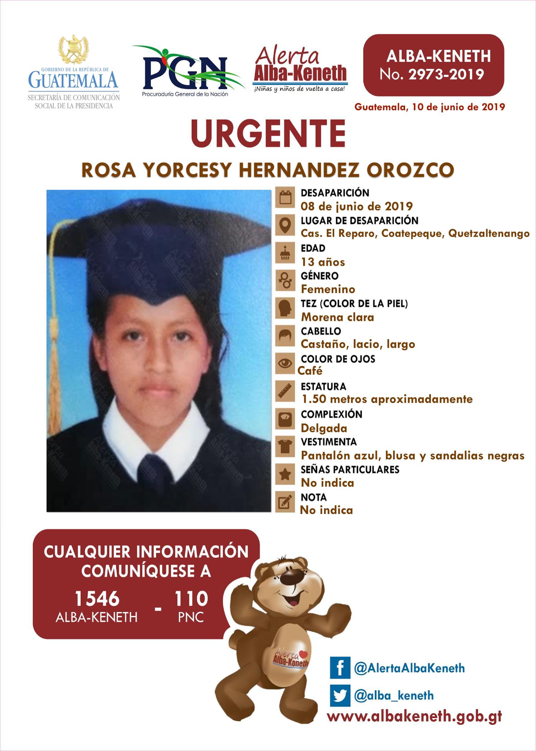 Rosa Yorcesy Hernandez Orozco