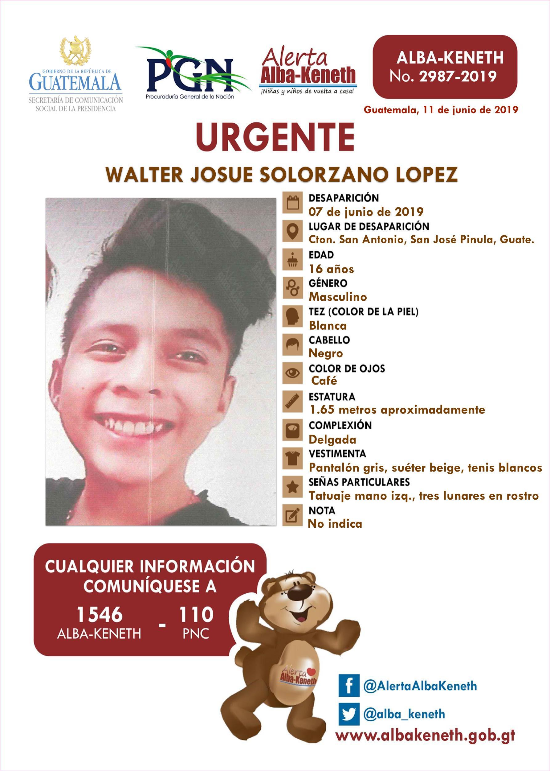 Walter Josue Solorzano Lopez