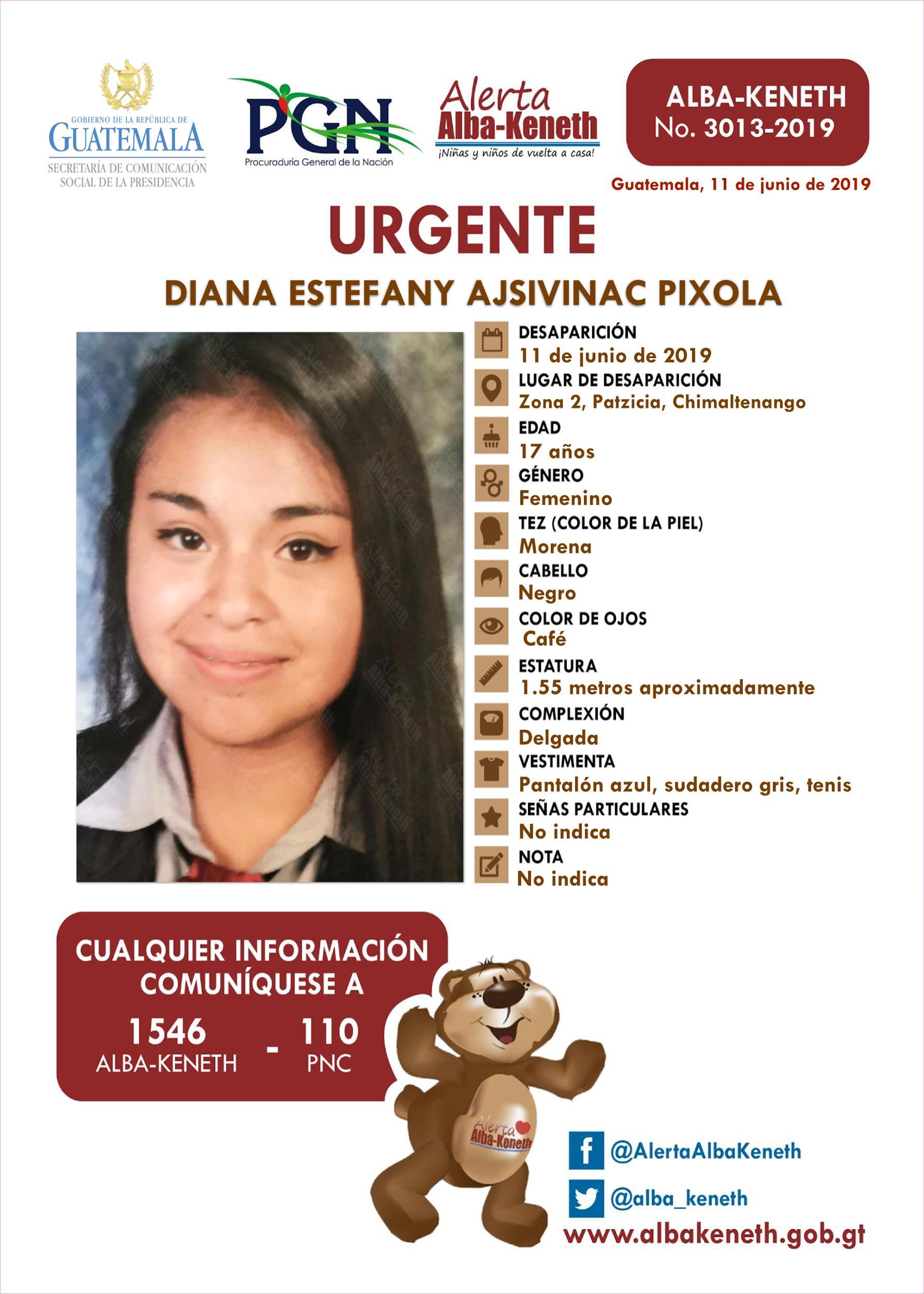 Diana Estefany Ajsivinac Pixola