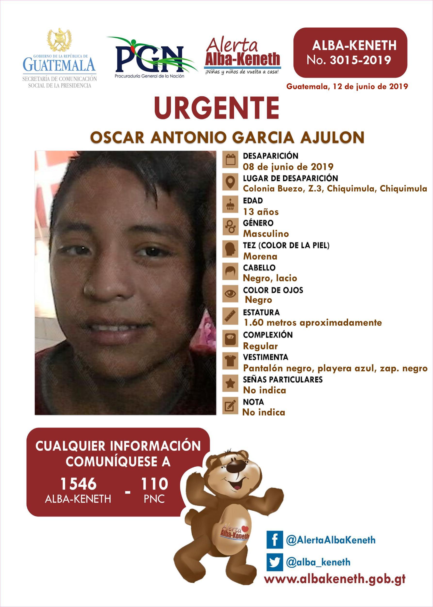 Oscar Antonio Garcia Ajulon
