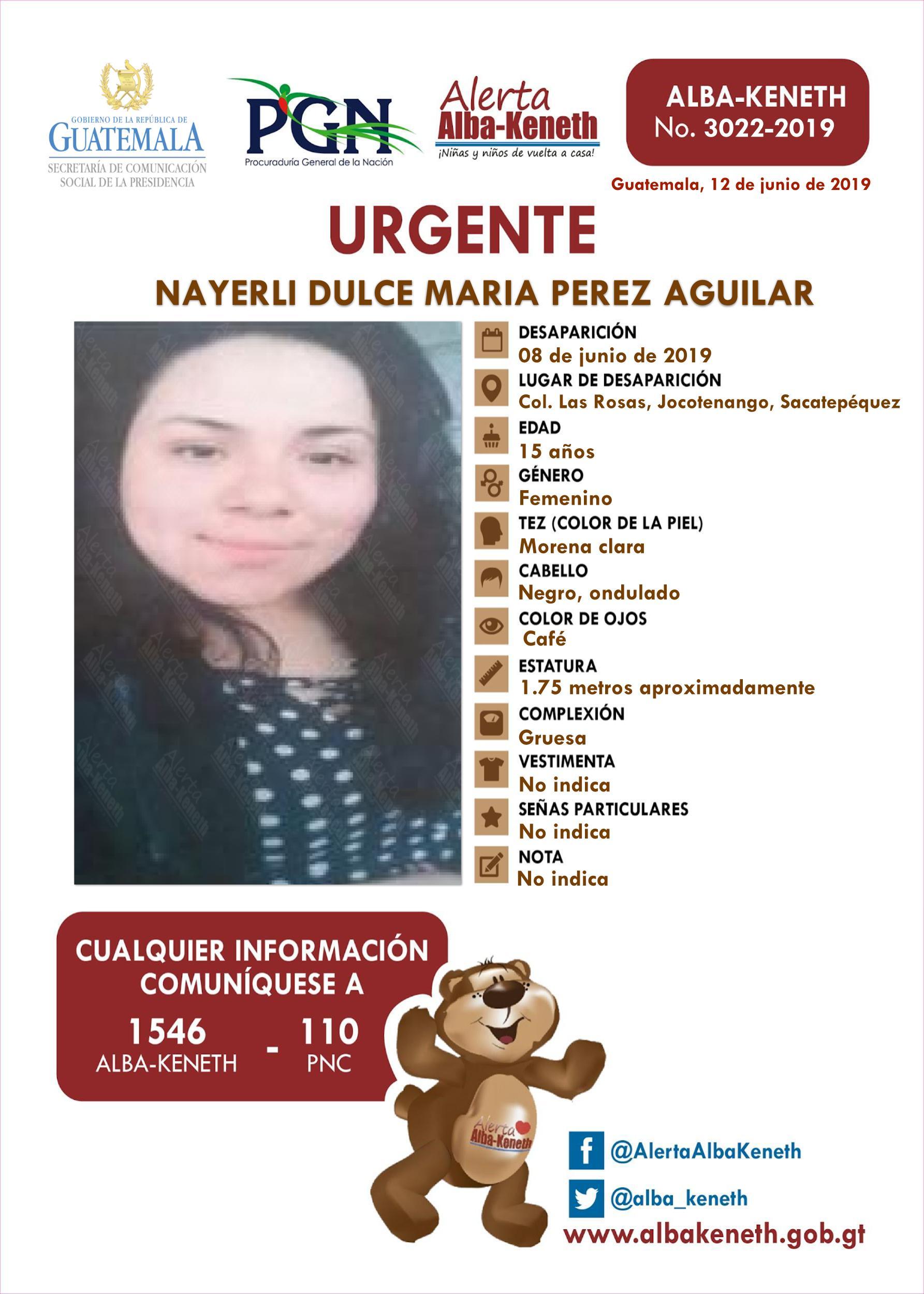 Nayerli Dulce Maria Perez Aguilar