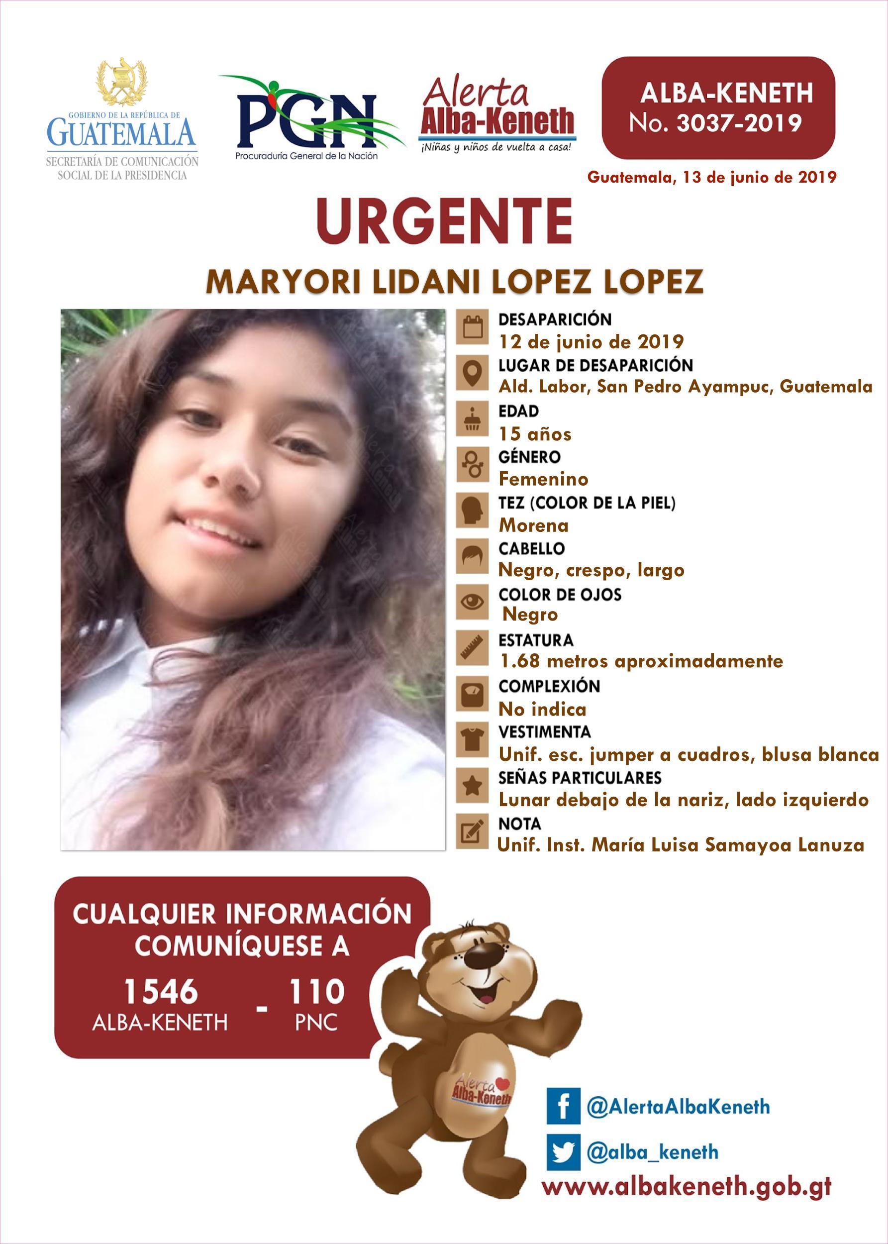 Maryori Lidani Lopez Lopez