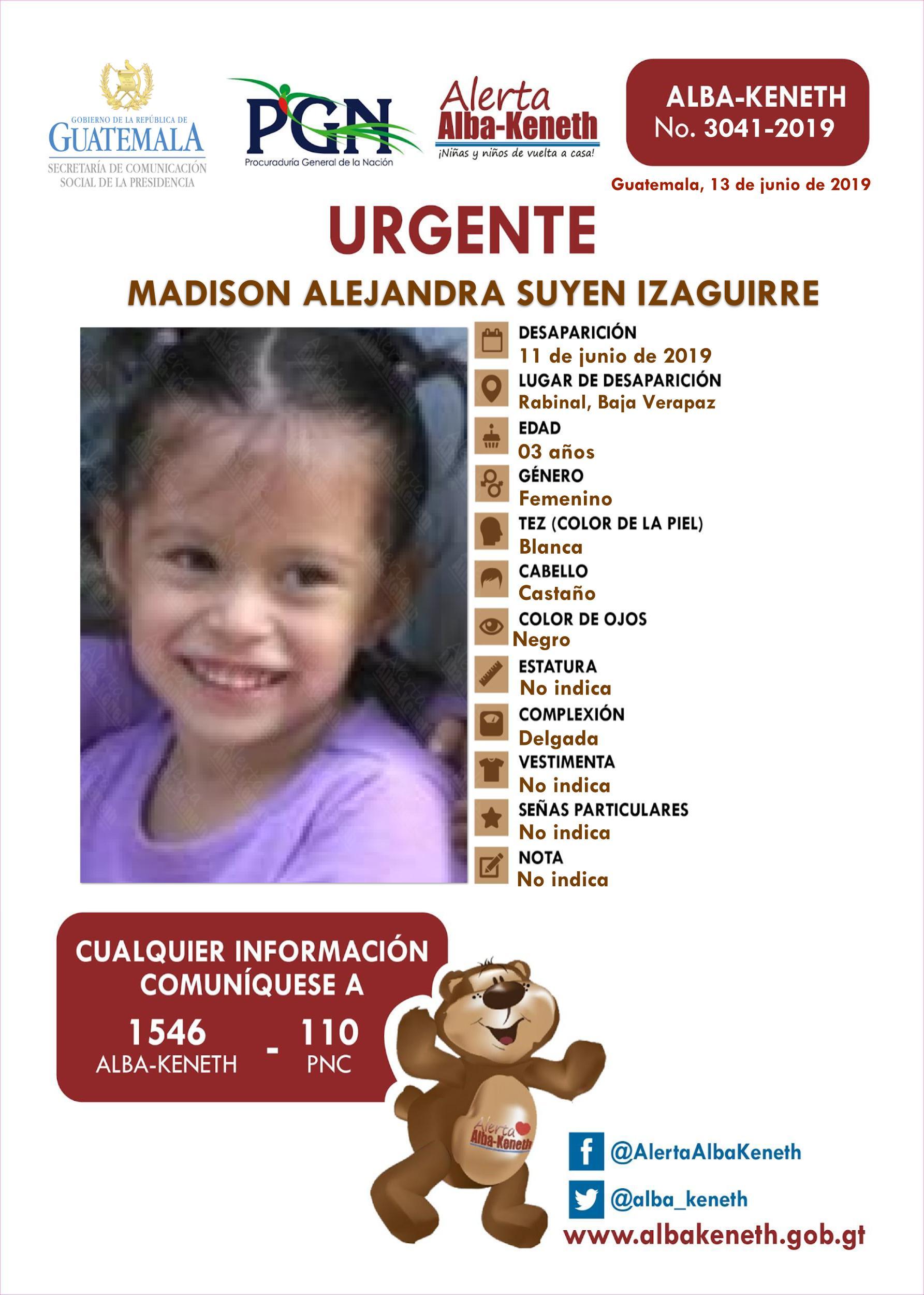 Madison Alejandra Suyen Izaguirre