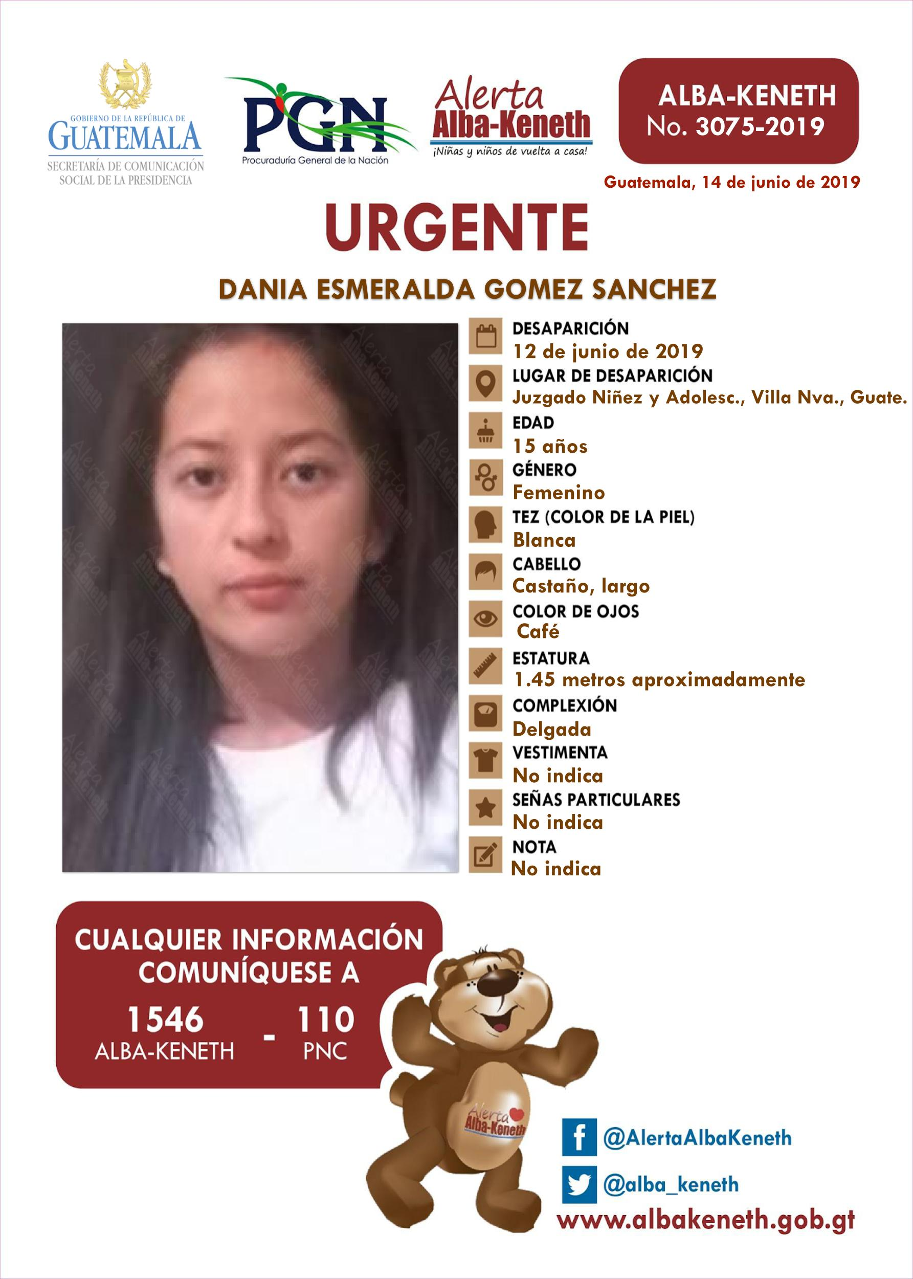 Dania Esmeralda Gomez Sanchez