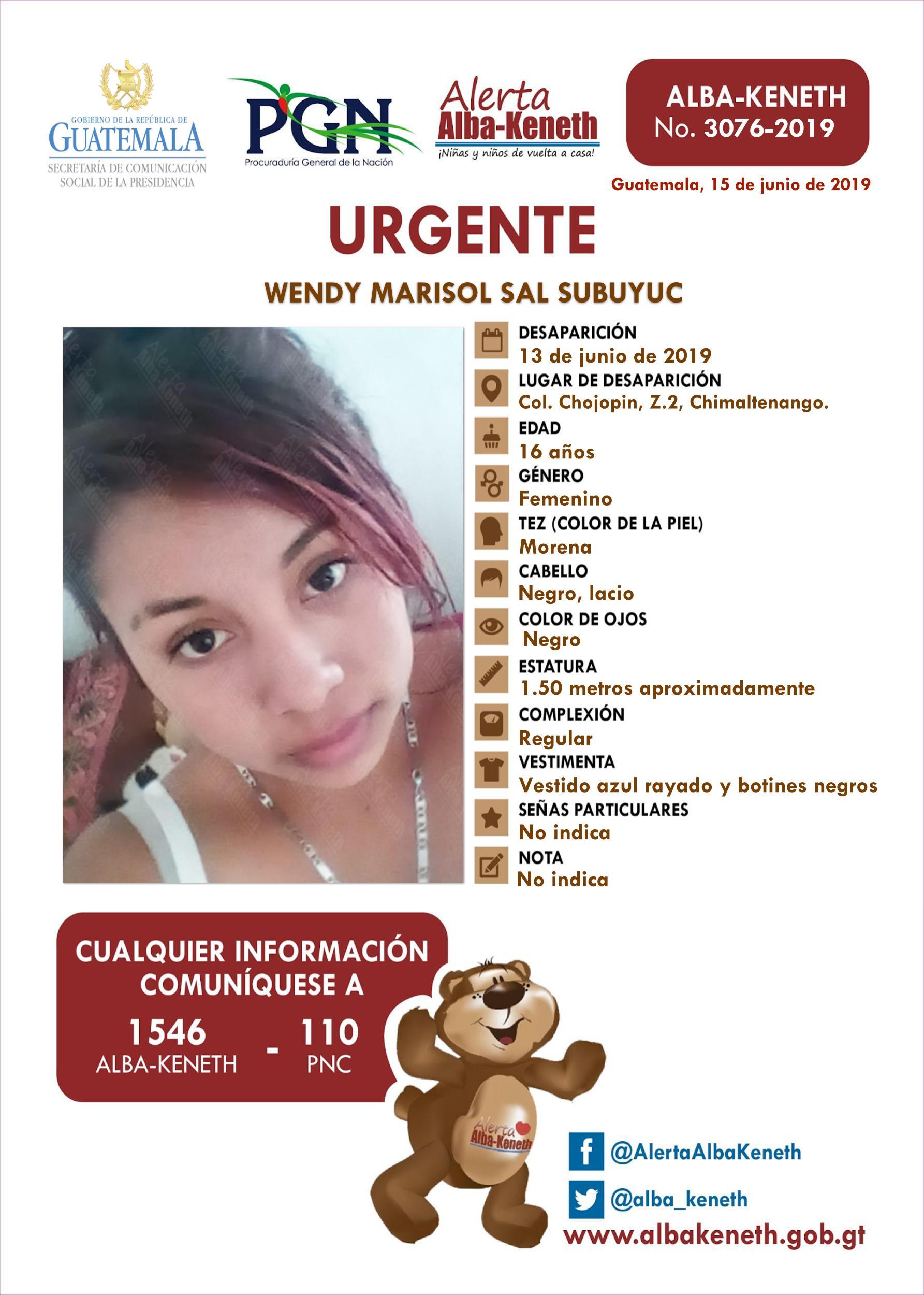 Wendy Marisol Sal Subuyuc