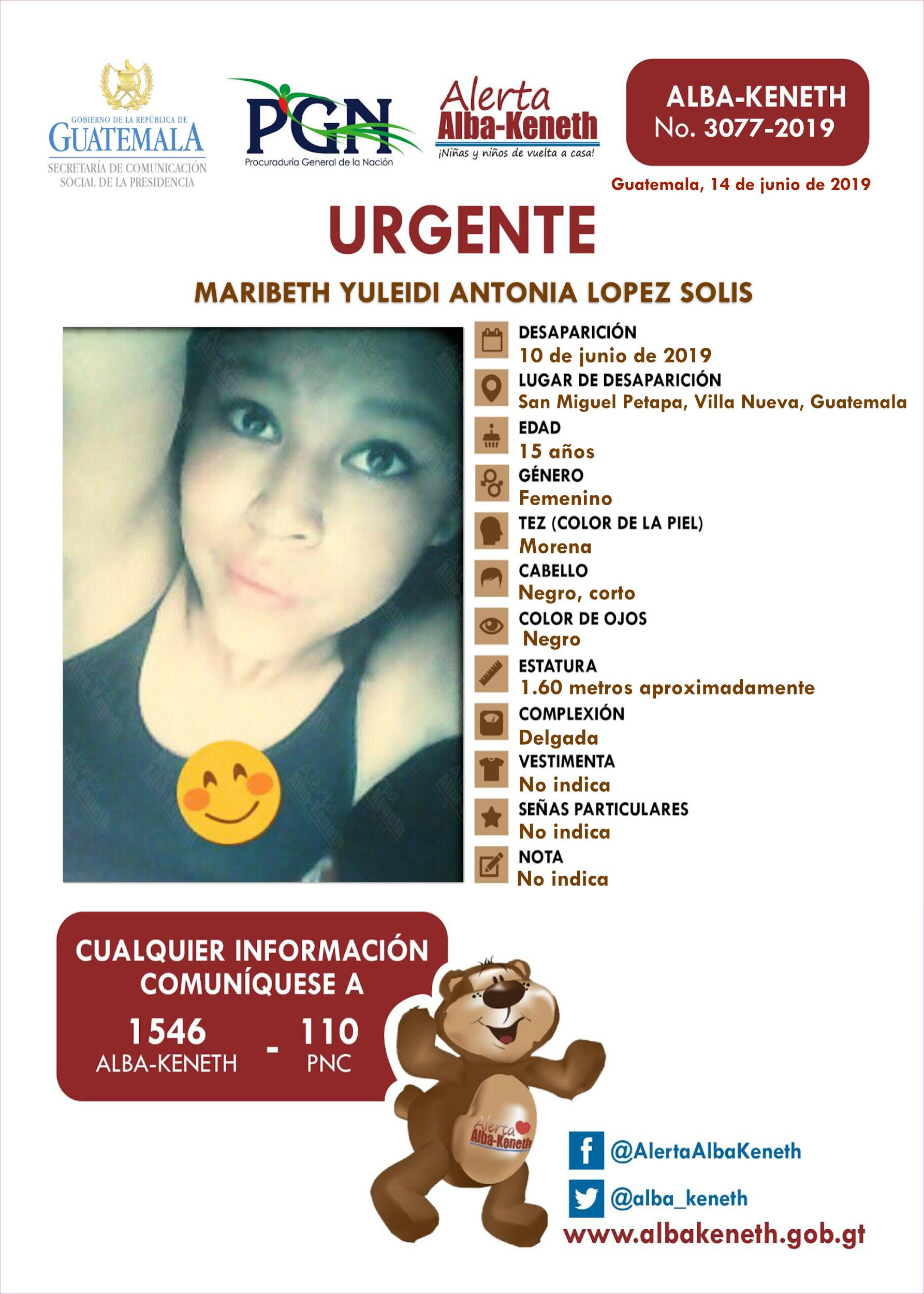Maribeth Yuleidi Antonia Lopez Solis
