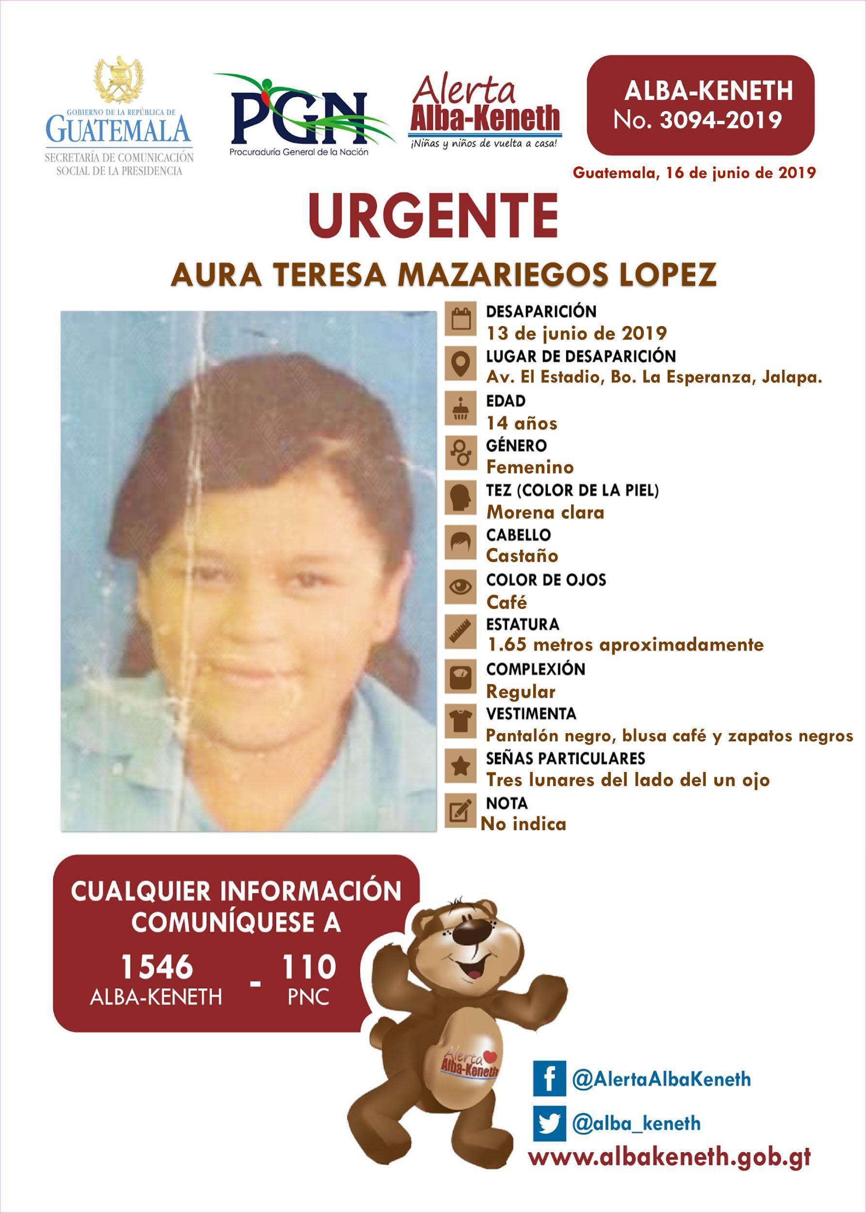 Aura Teresa Mazariegos Lopez
