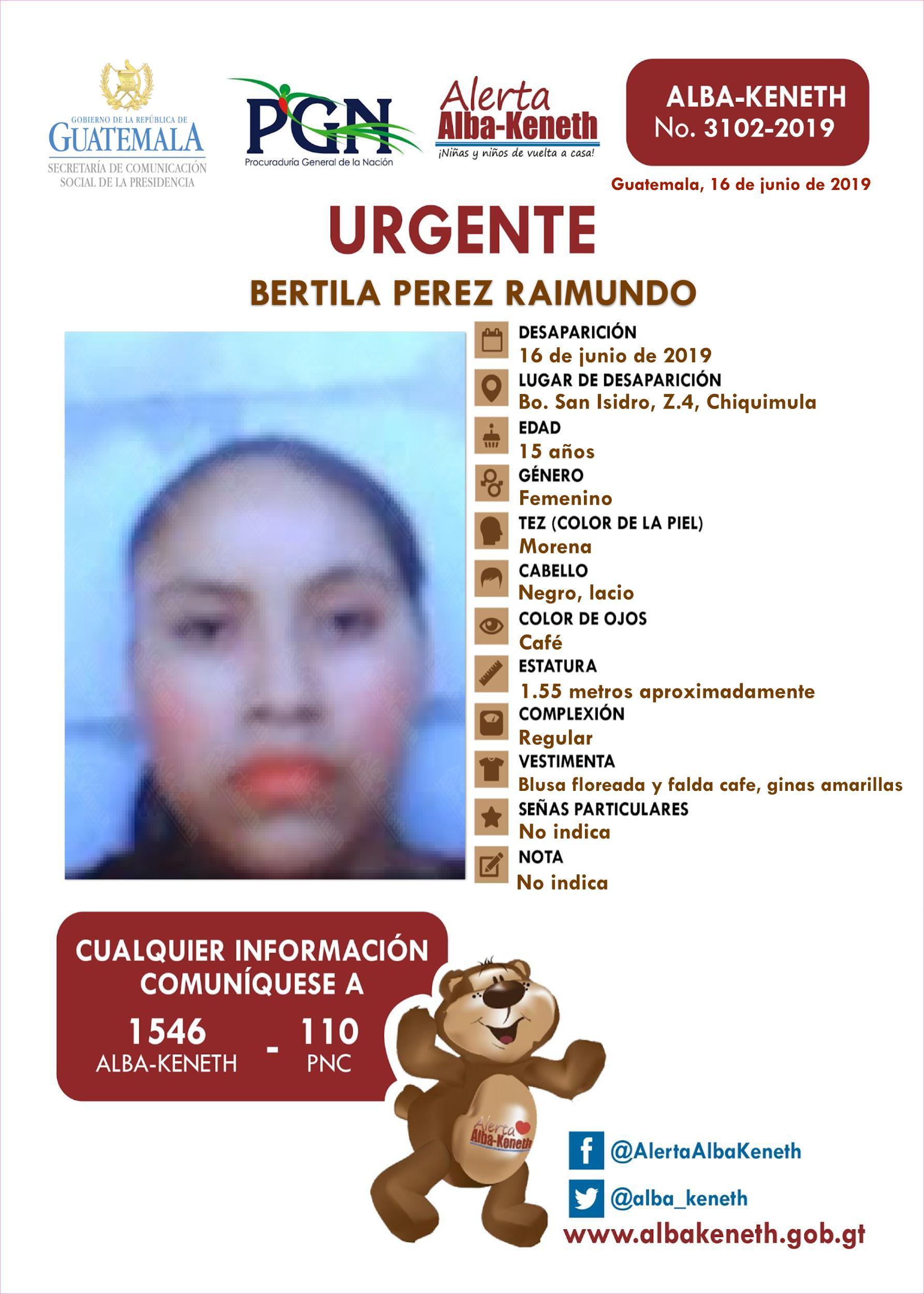Bertila Perez Raimundo