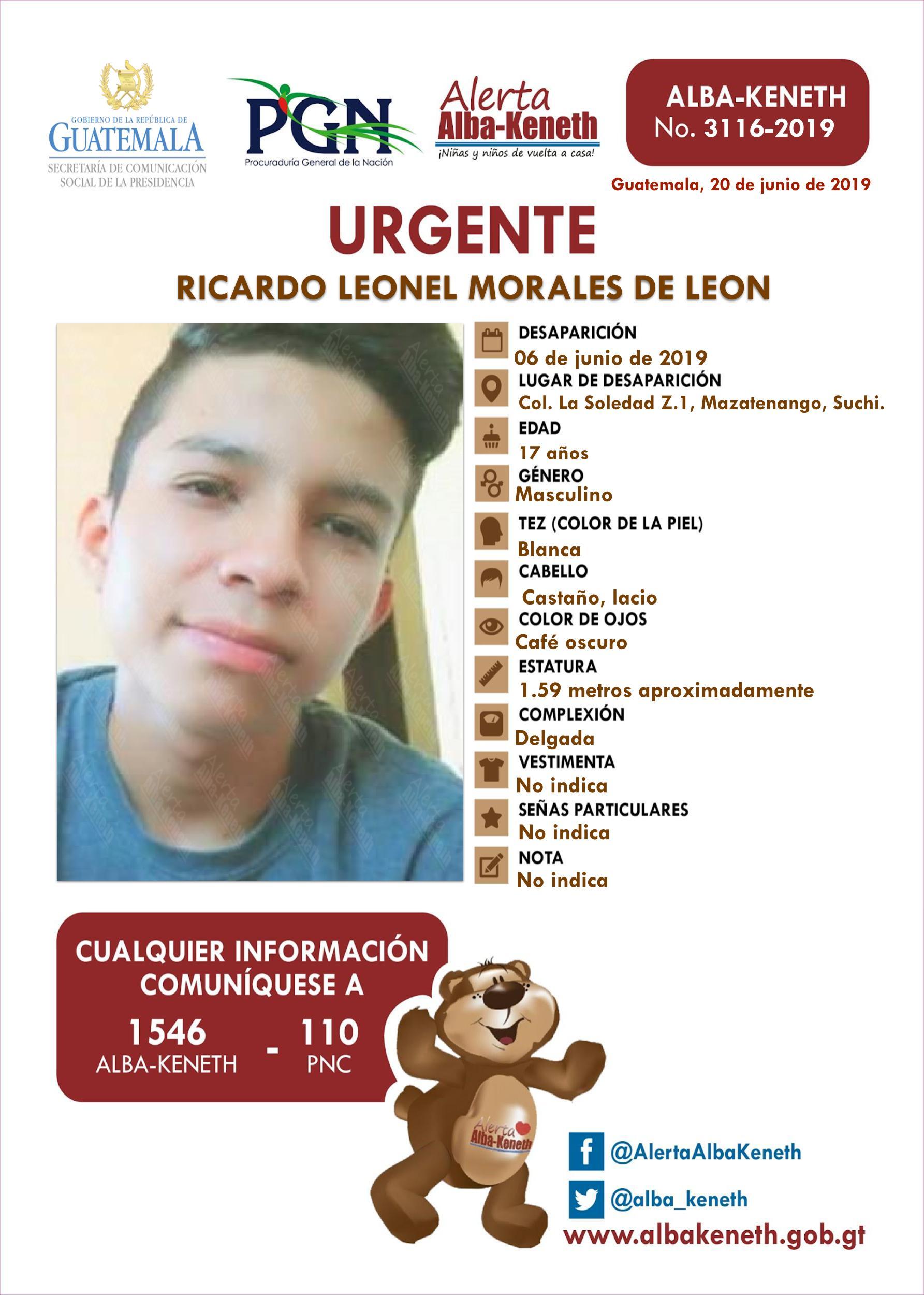 Ricardo Leonel Morales de Leon