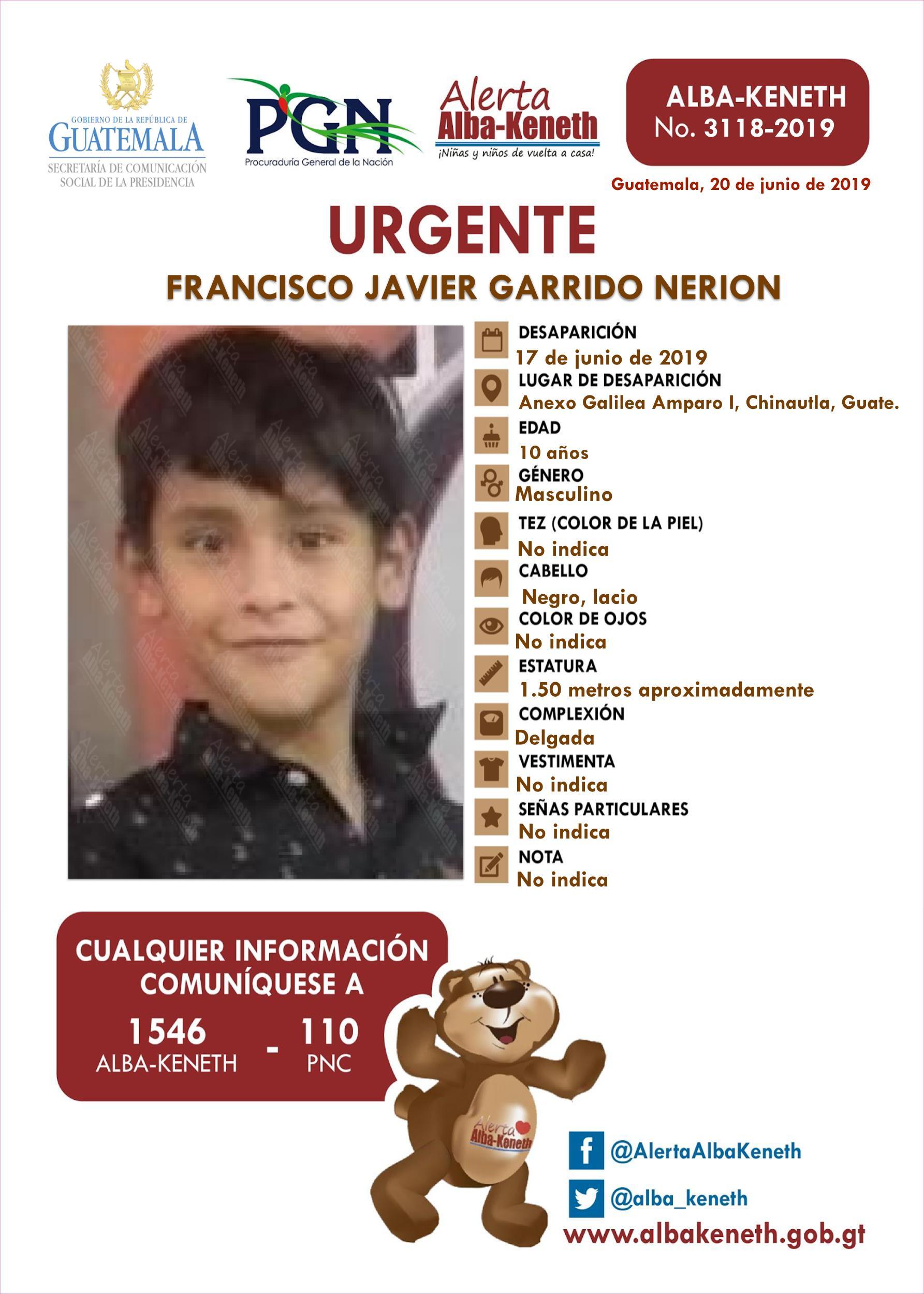 Francisco Javier Garrido Nerion