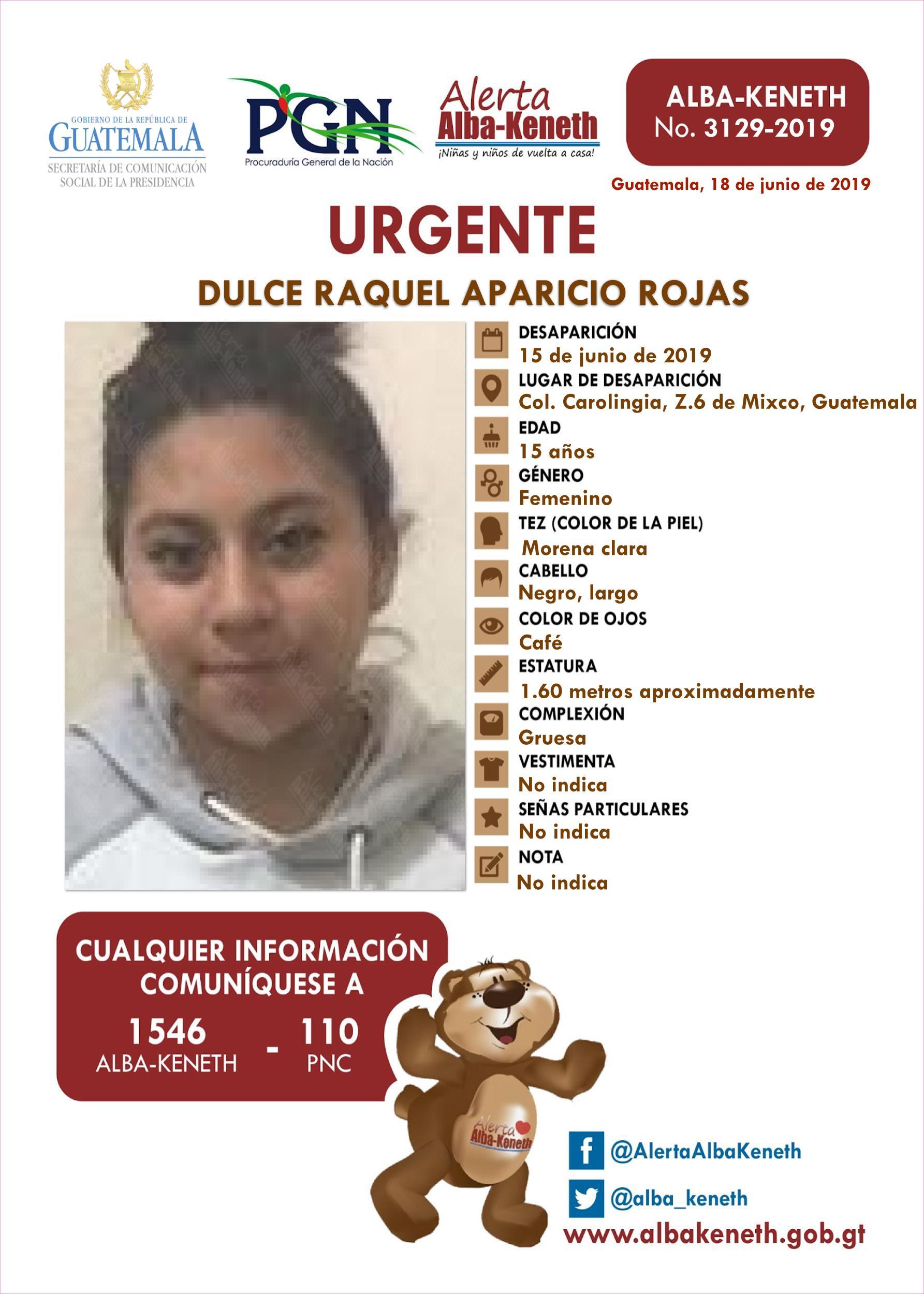 Dulce Raquel Aparicio Rojas