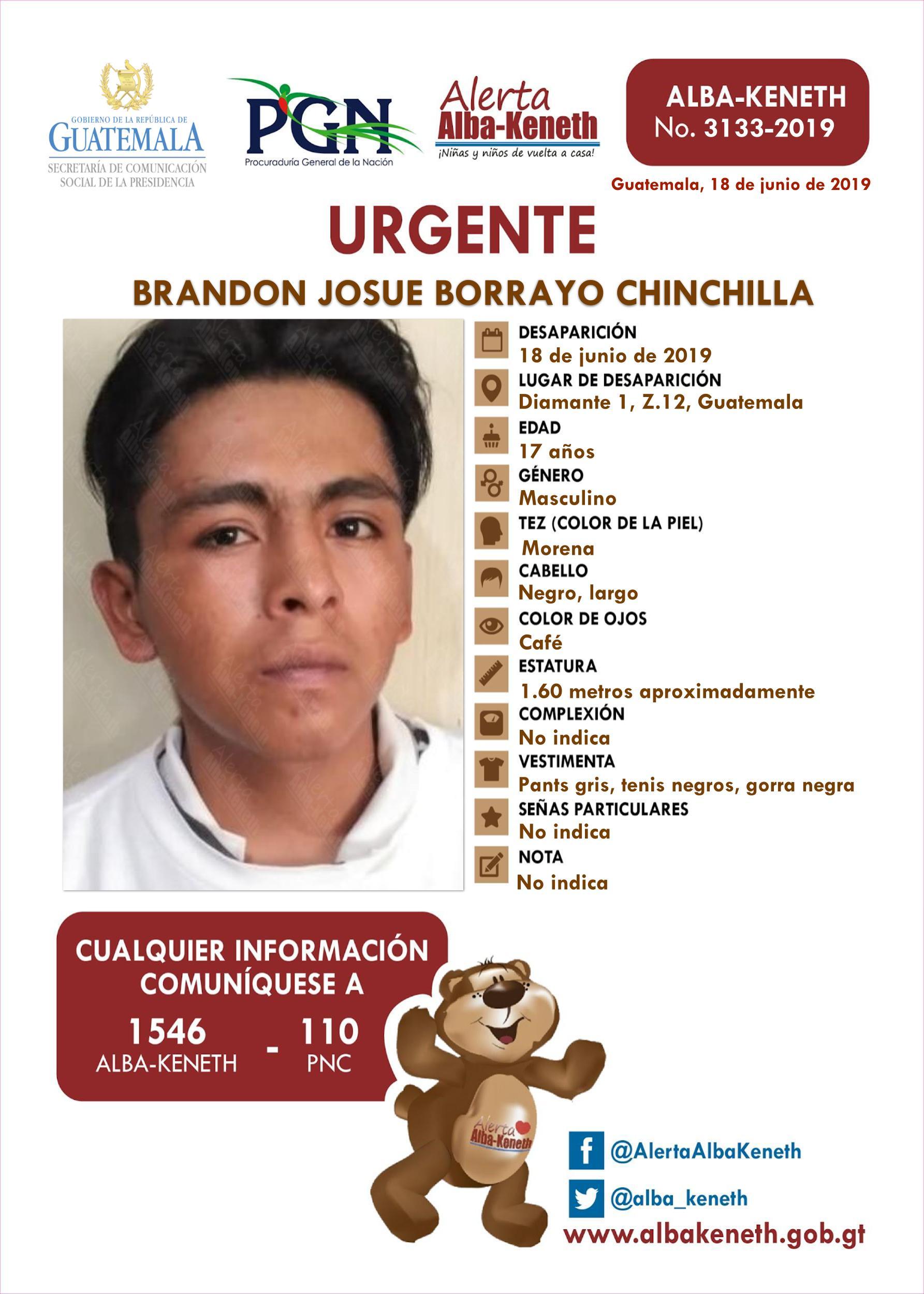 Brandon Josue Borrayo Chinchilla
