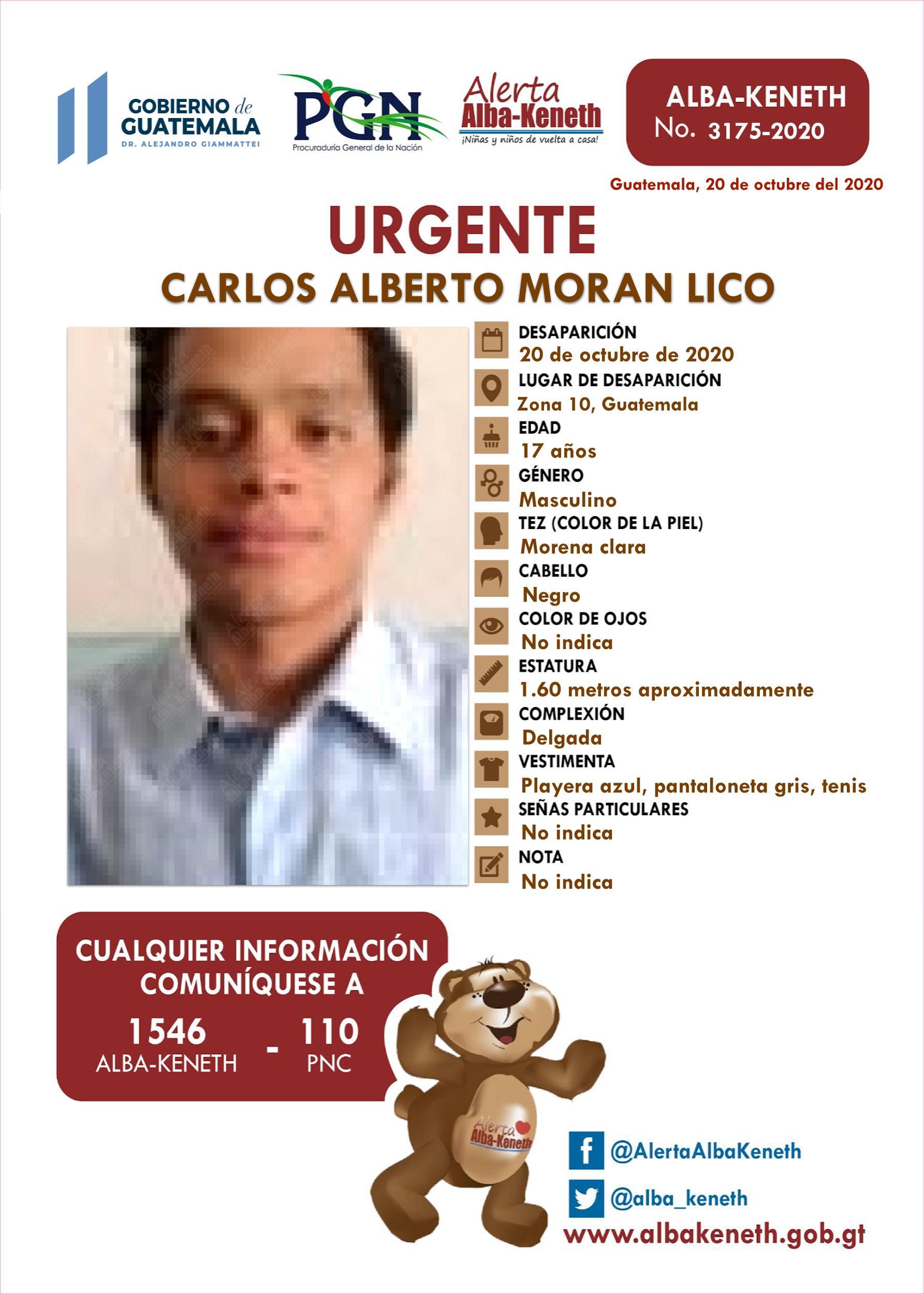 Carlos Alberto Moran Lico
