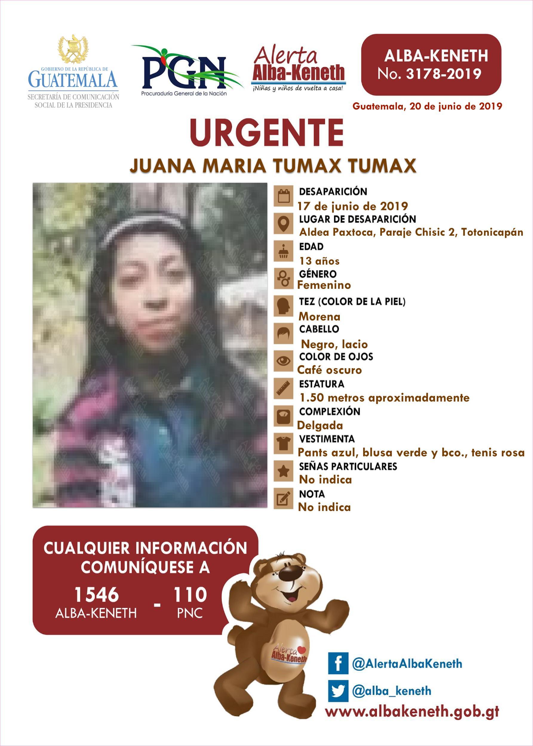 Juana Maria Tumax Tumax