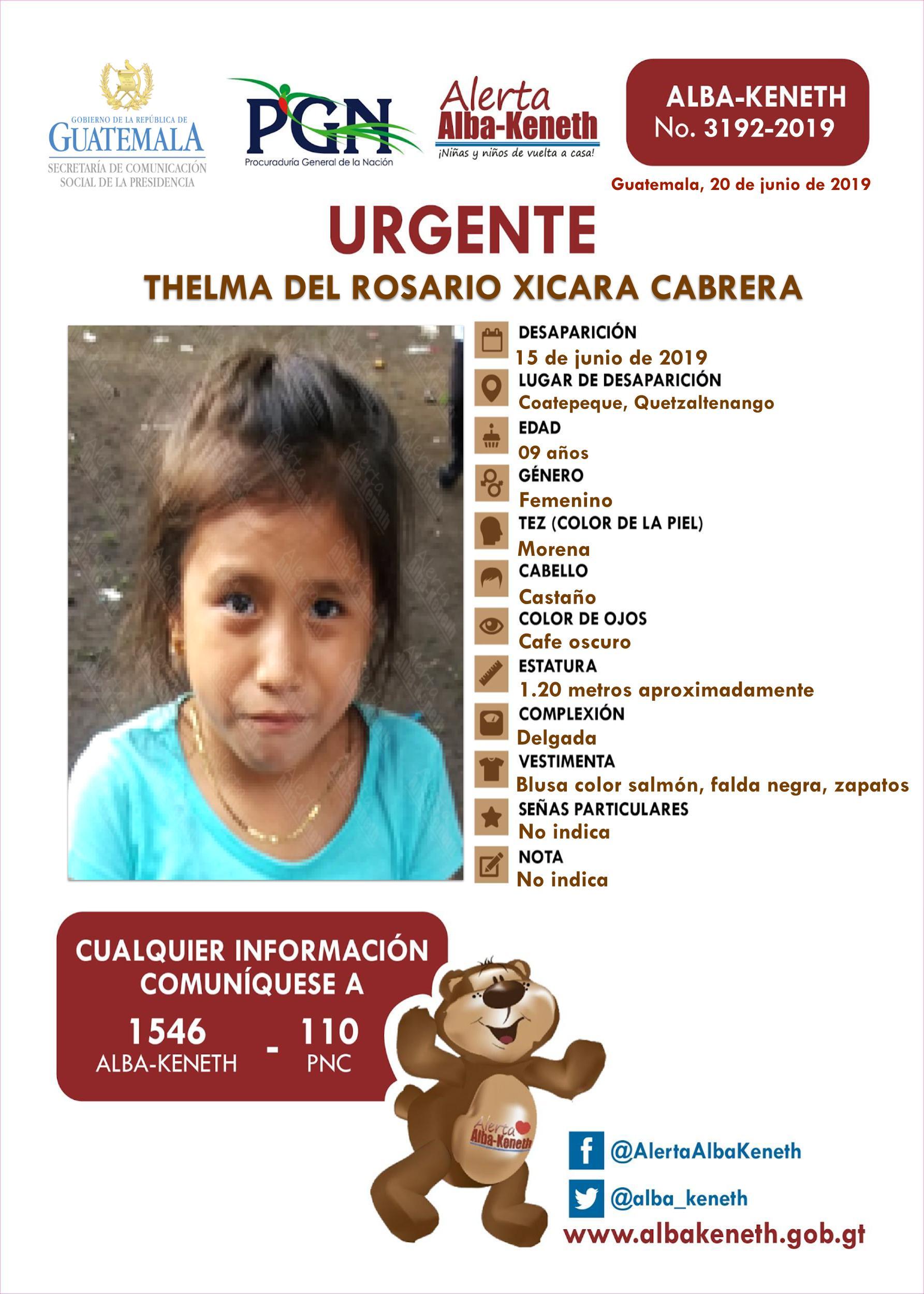 Thelma del Rosario Xicara Cabrera