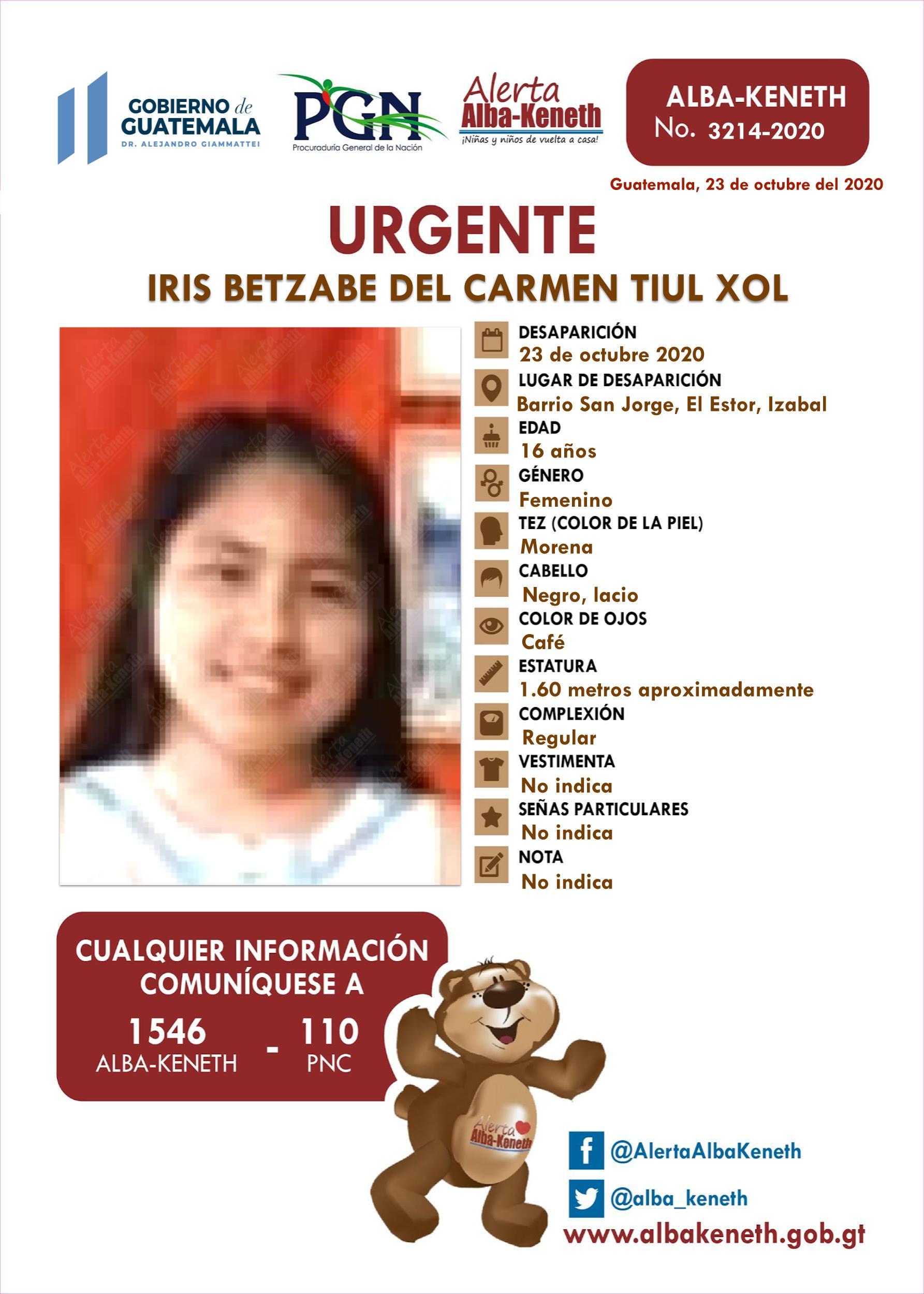 Iris Betzabe del Carmen Tiul Xol