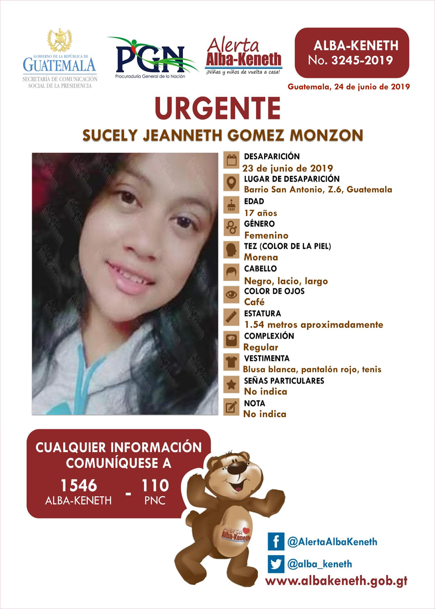 Sucely Jeanneth Gomez Monzon