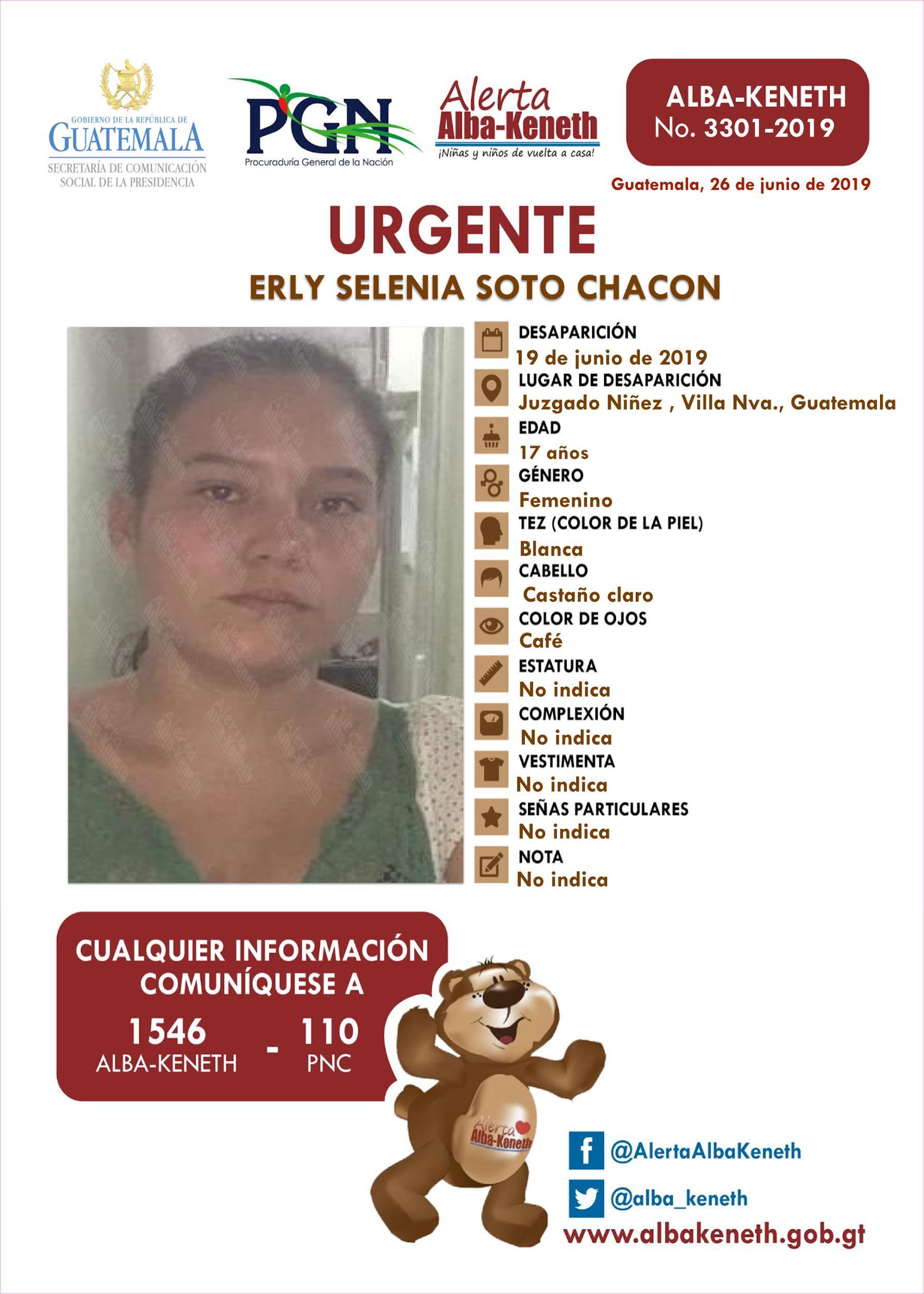 Erly Selenia Soto Chacon
