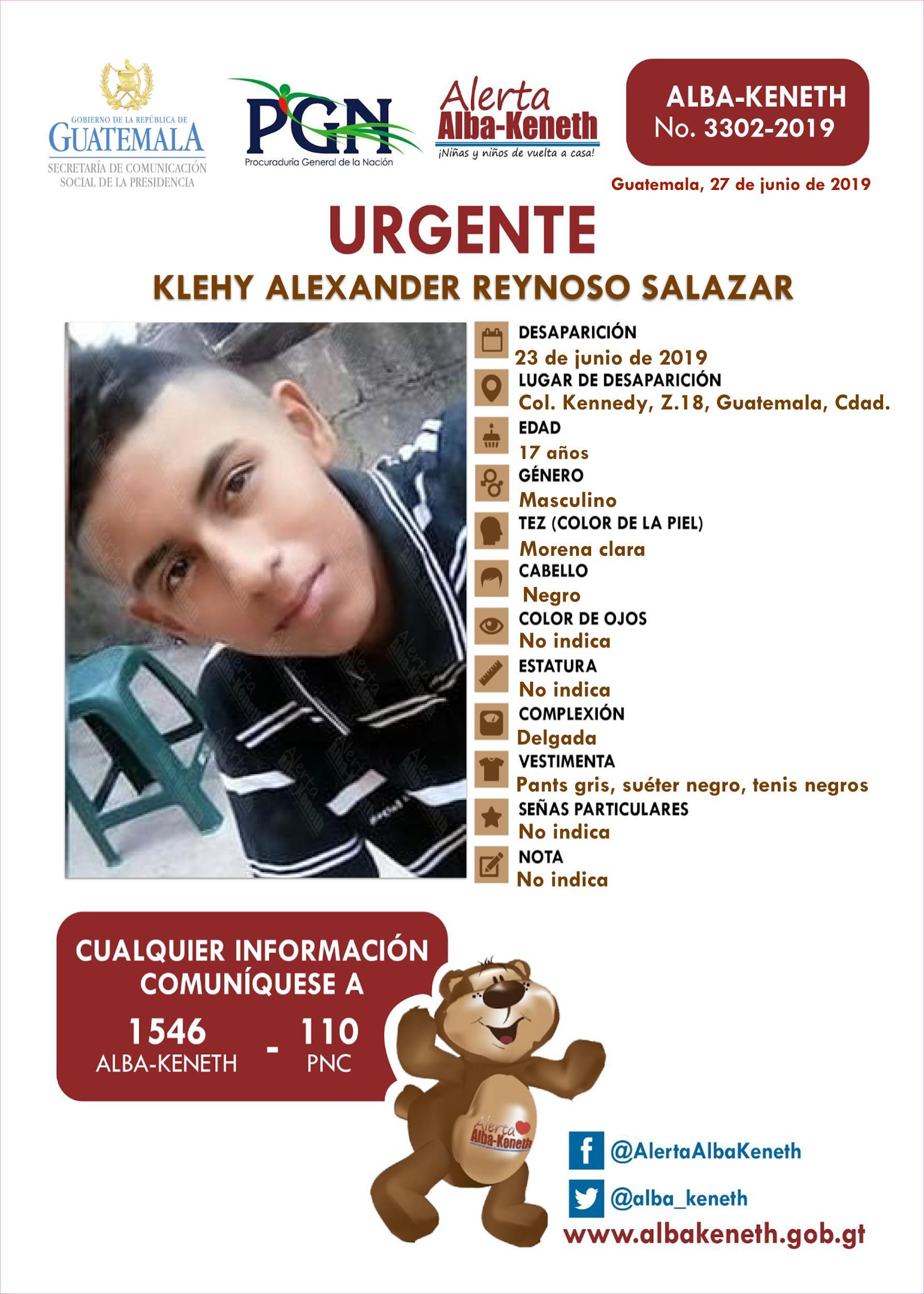 Klehy Alexander Reynoso Salazar