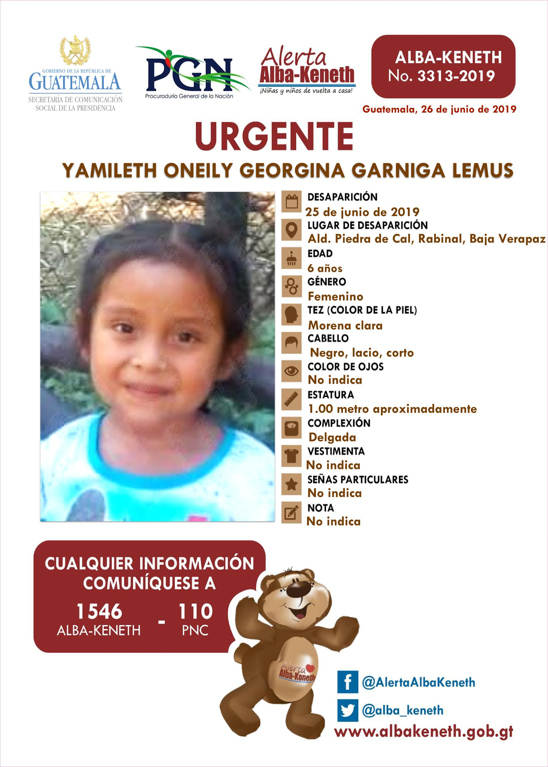 Yamileth Oneily Georgina Garniga Lemus
