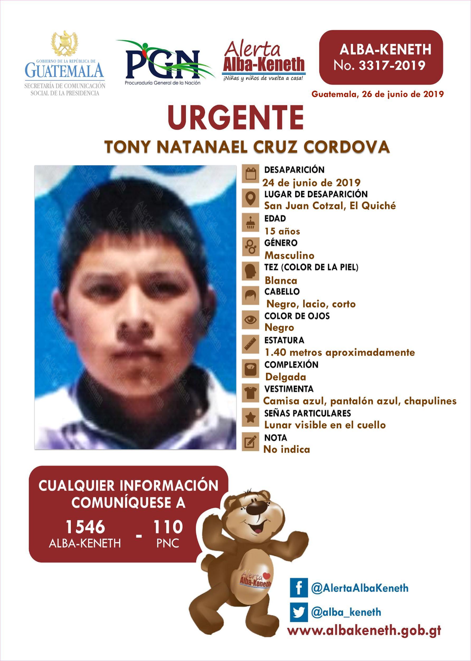 Tony Natanael Cruz Cordova
