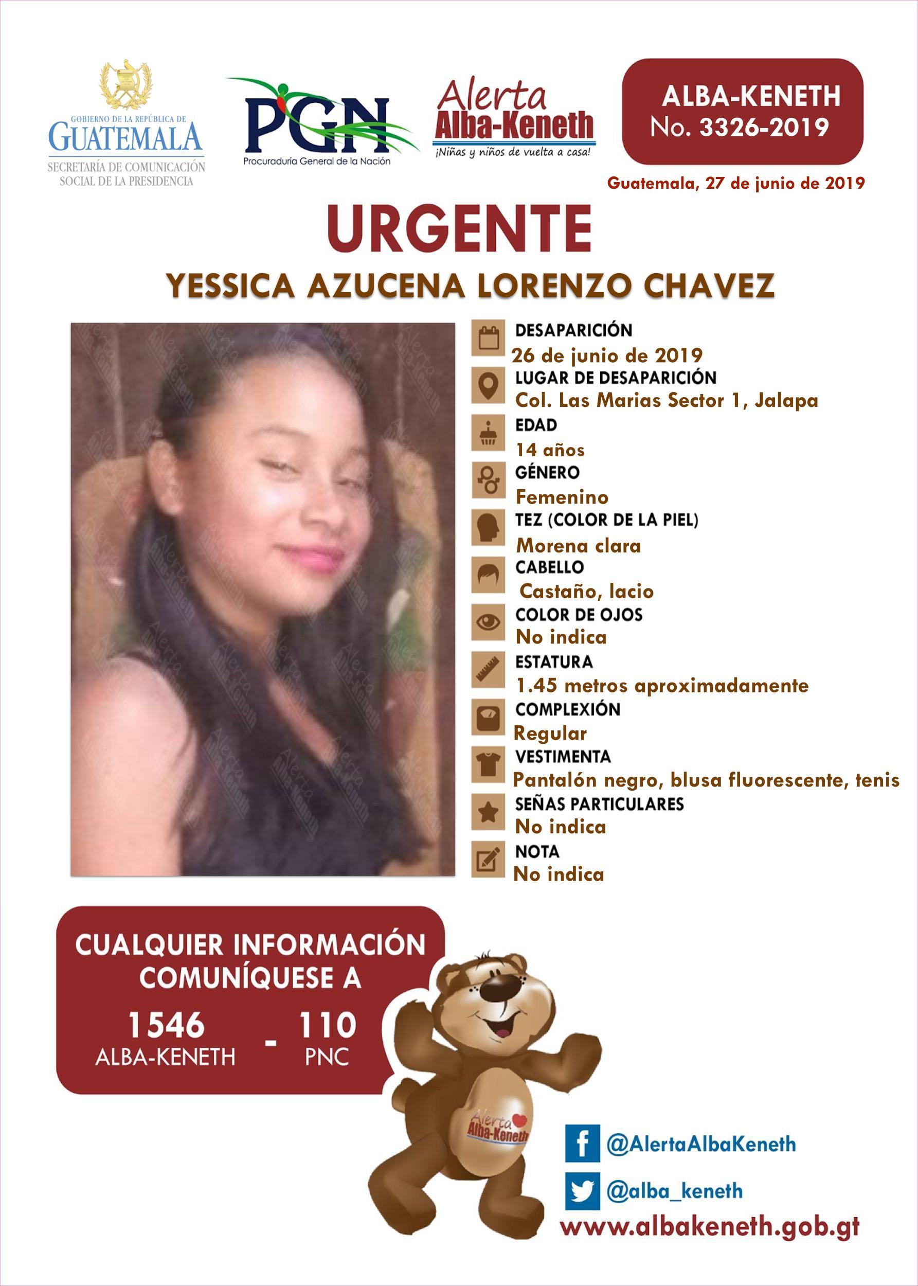 Yessica Azucena Lorenzo Chavez