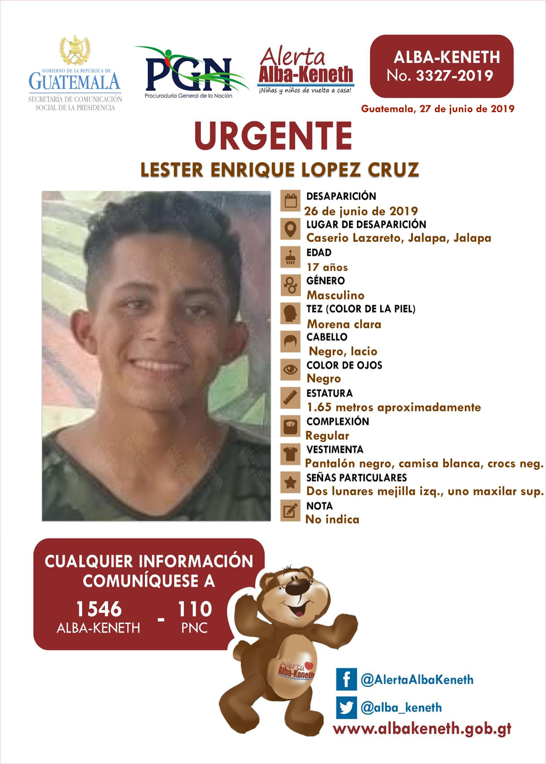 Lester Enrique Lopez Cruz