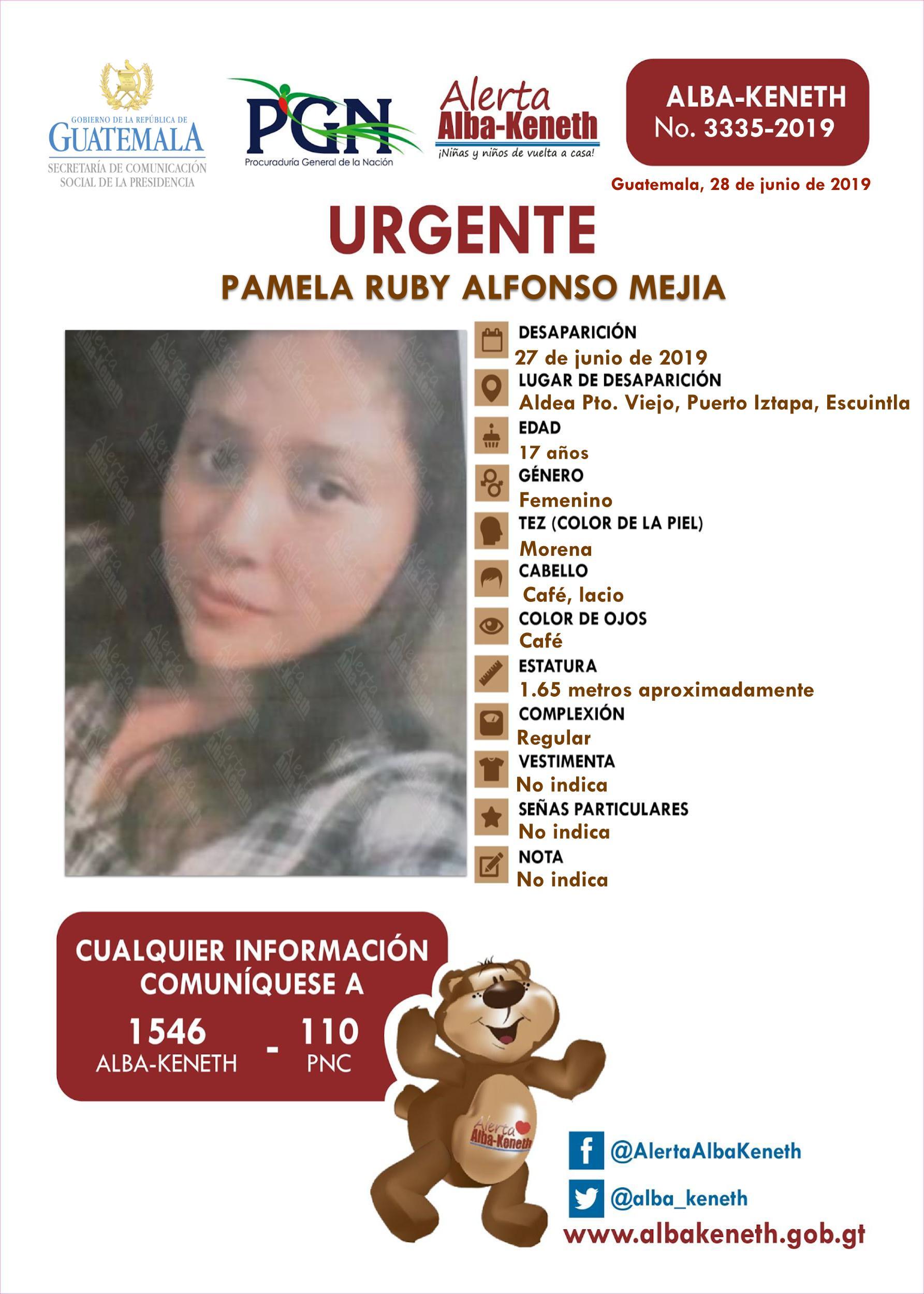 Pamela Ruby Alfonso Mejia