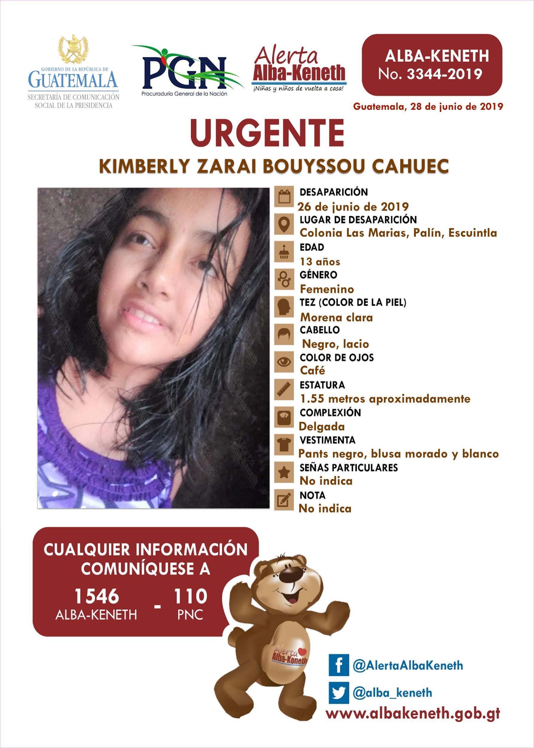 Kimberly Zarai Bouyssou Cahuec