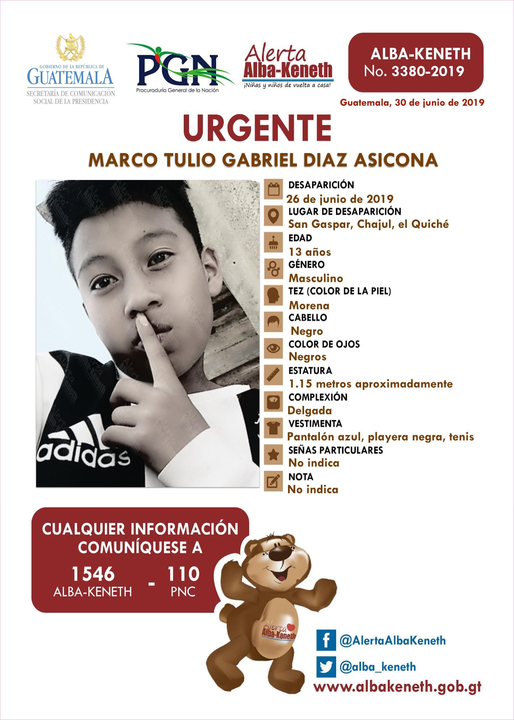 Marco Tulio Gabriel Diaz Asicona