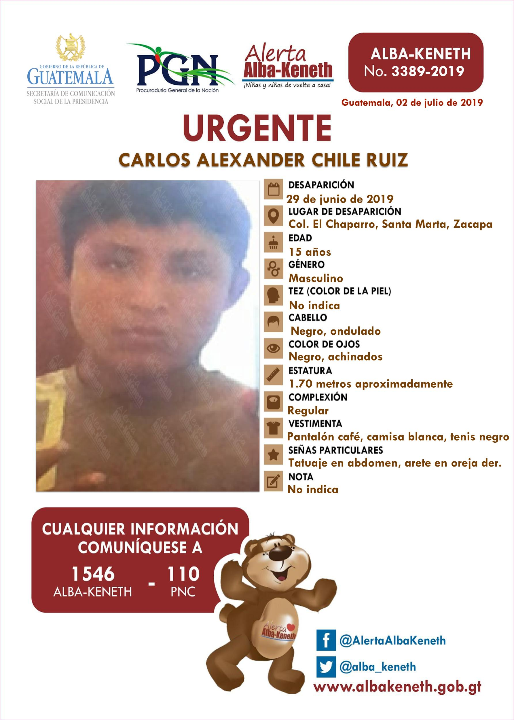 Carlos Alexander Chile Ruiz