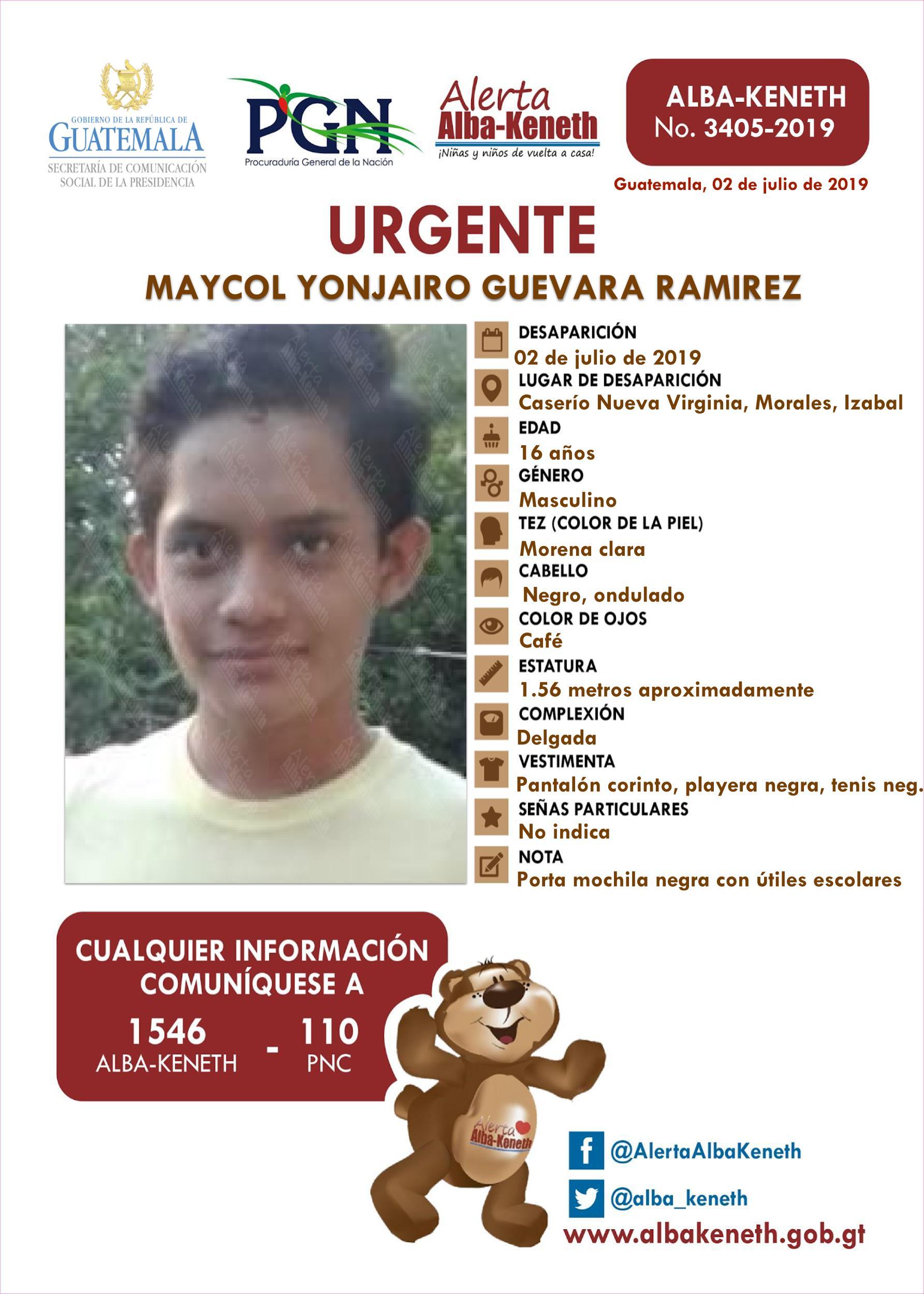 Maycol Yonjairo Guevara Ramirez
