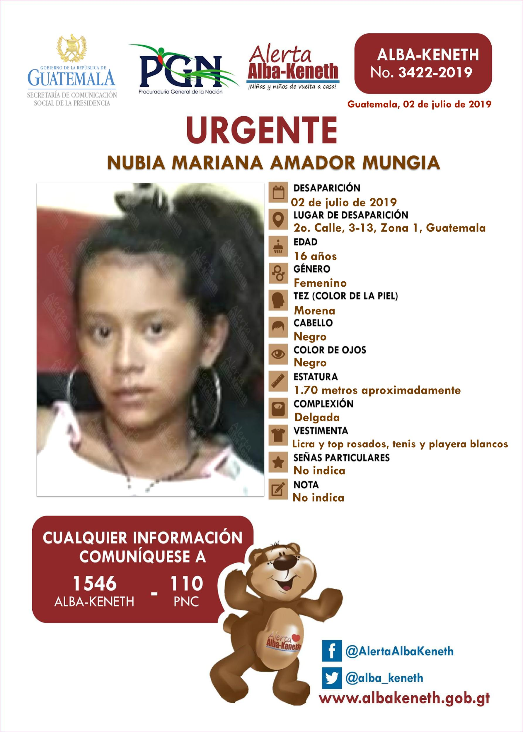 Nubia Mariana Amador Mungia