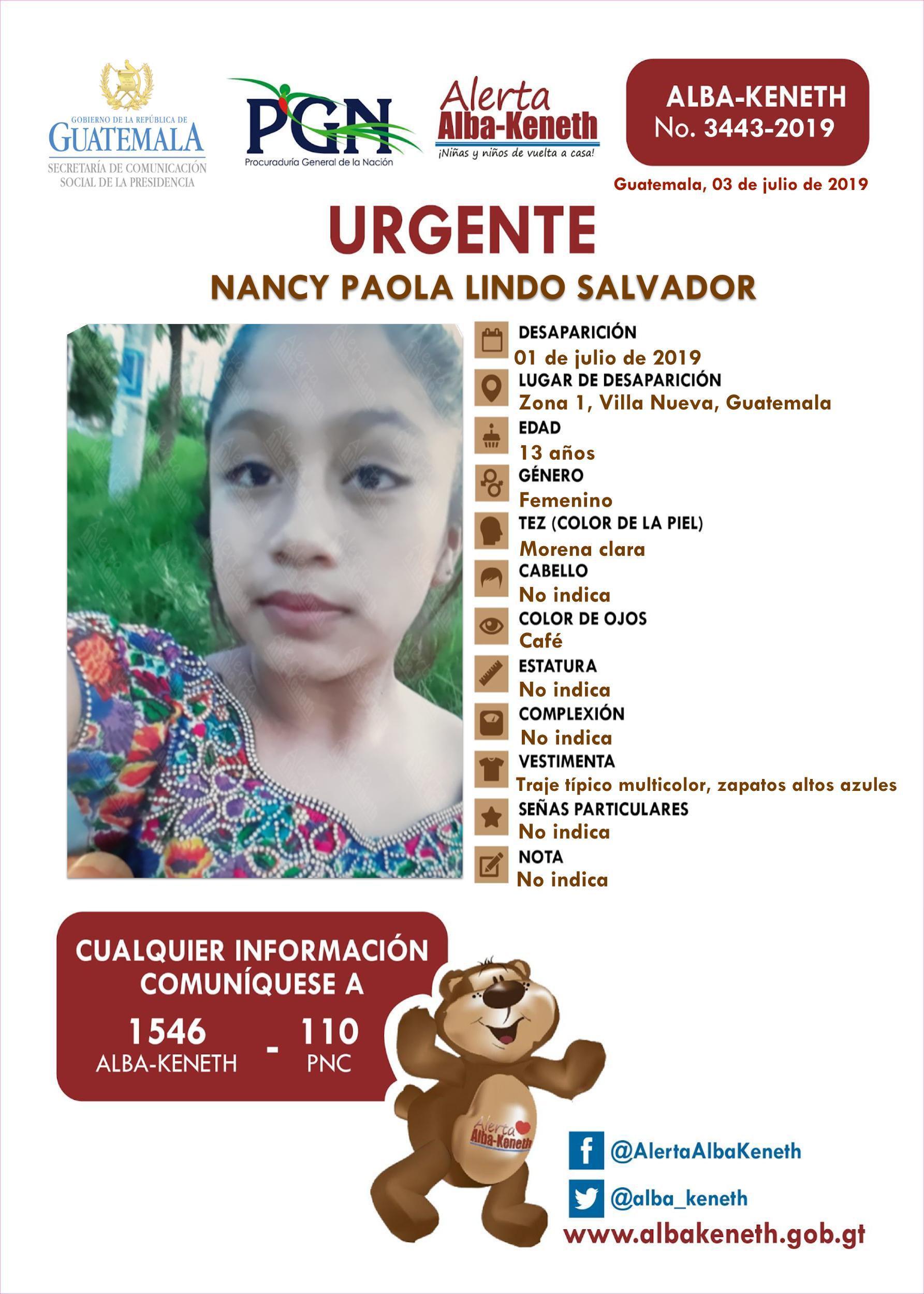 Nancy Paola Lindo Salvador