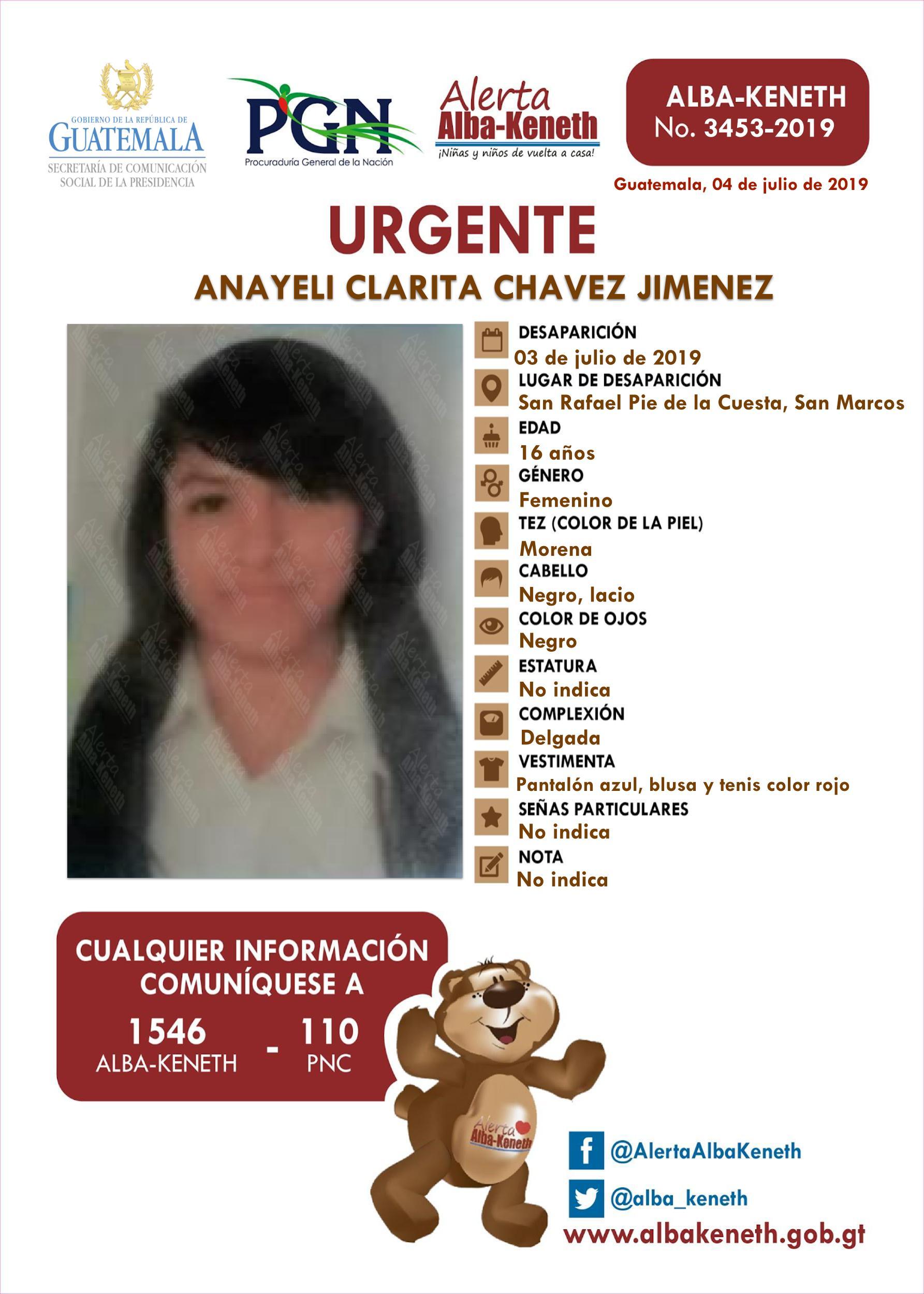 Anayeli Clarita Chavez Jimenez