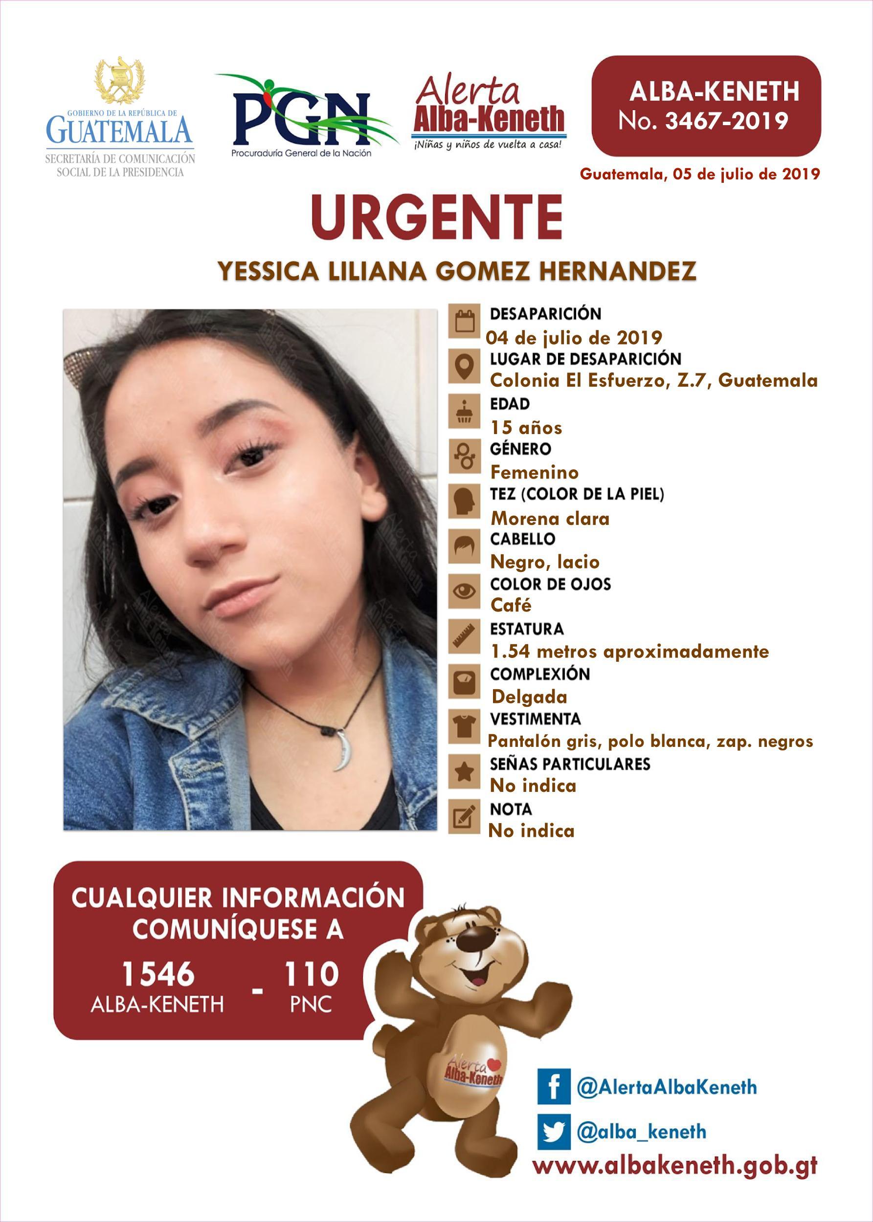 Yessica Liliana Gomez Hernandez