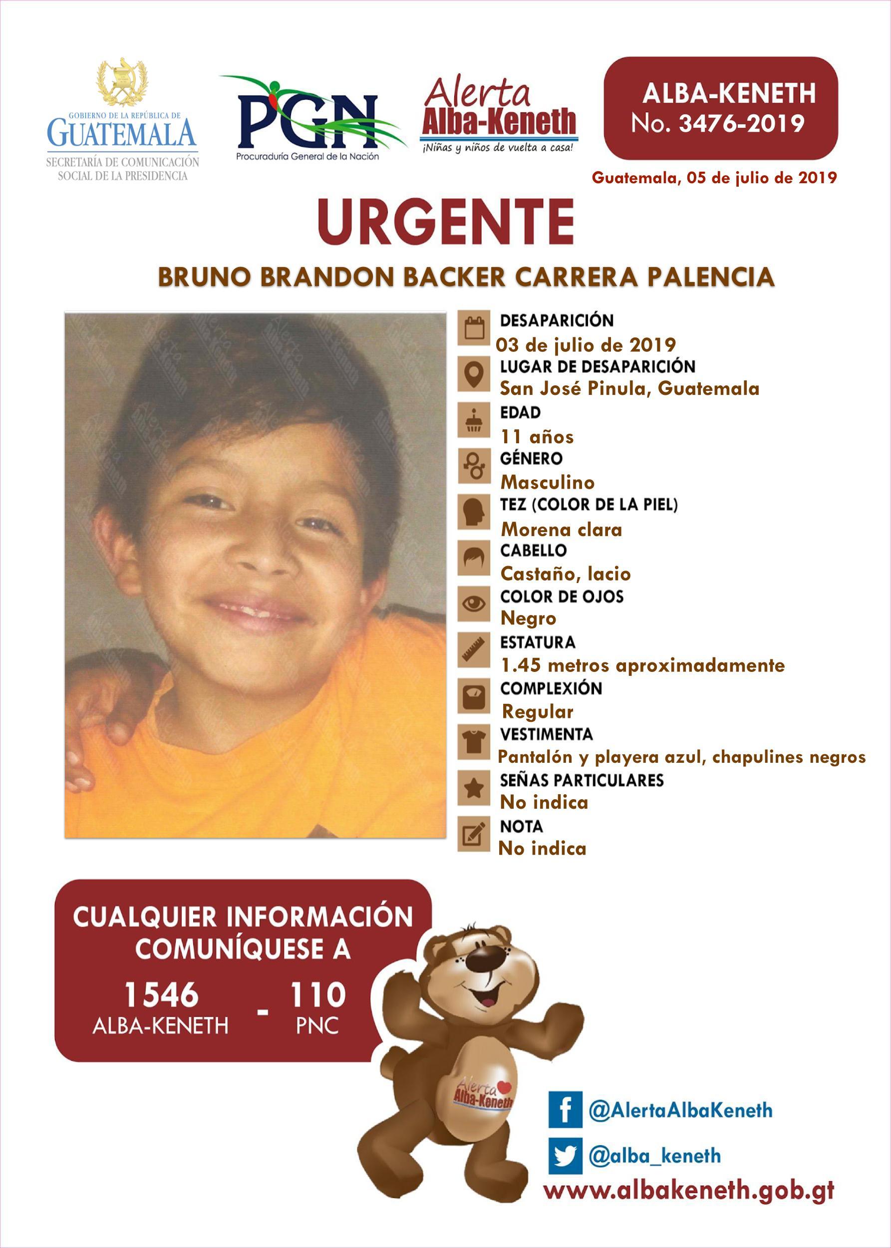 Bruno Brandon Backer Carrera Palencia