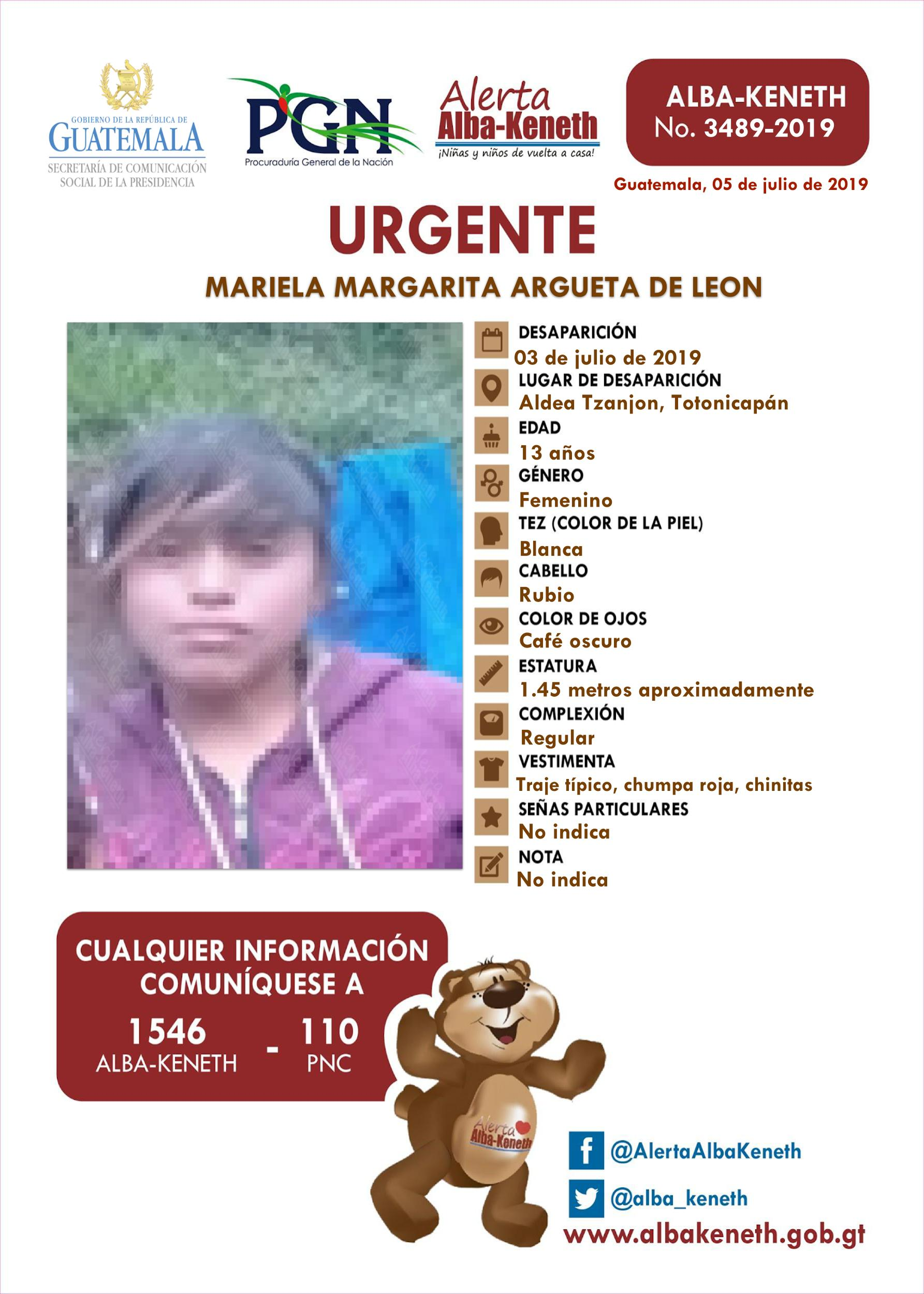 Mariela Margarita Argueta de Leon