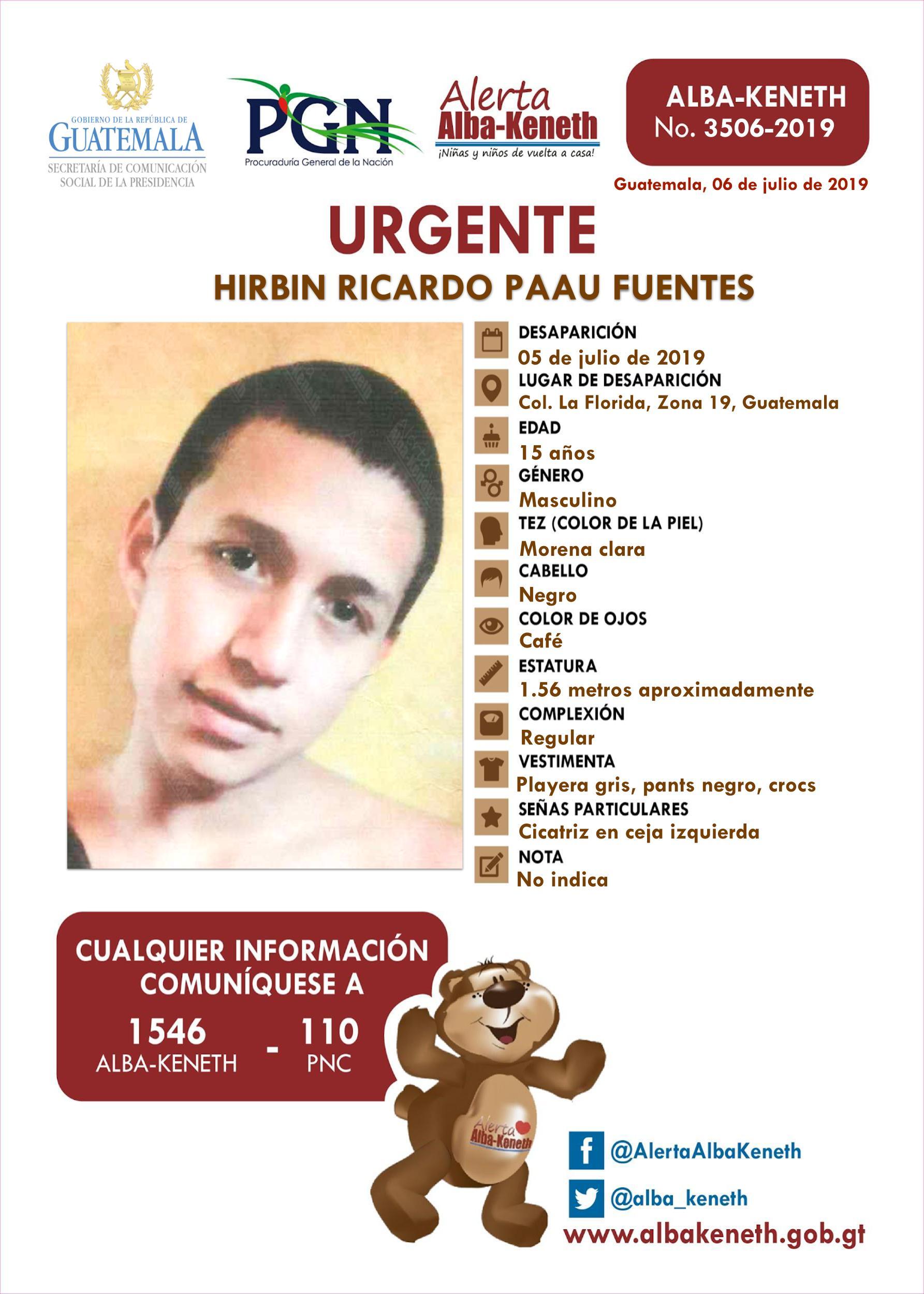 Hirbin Ricardo Paau Fuentes